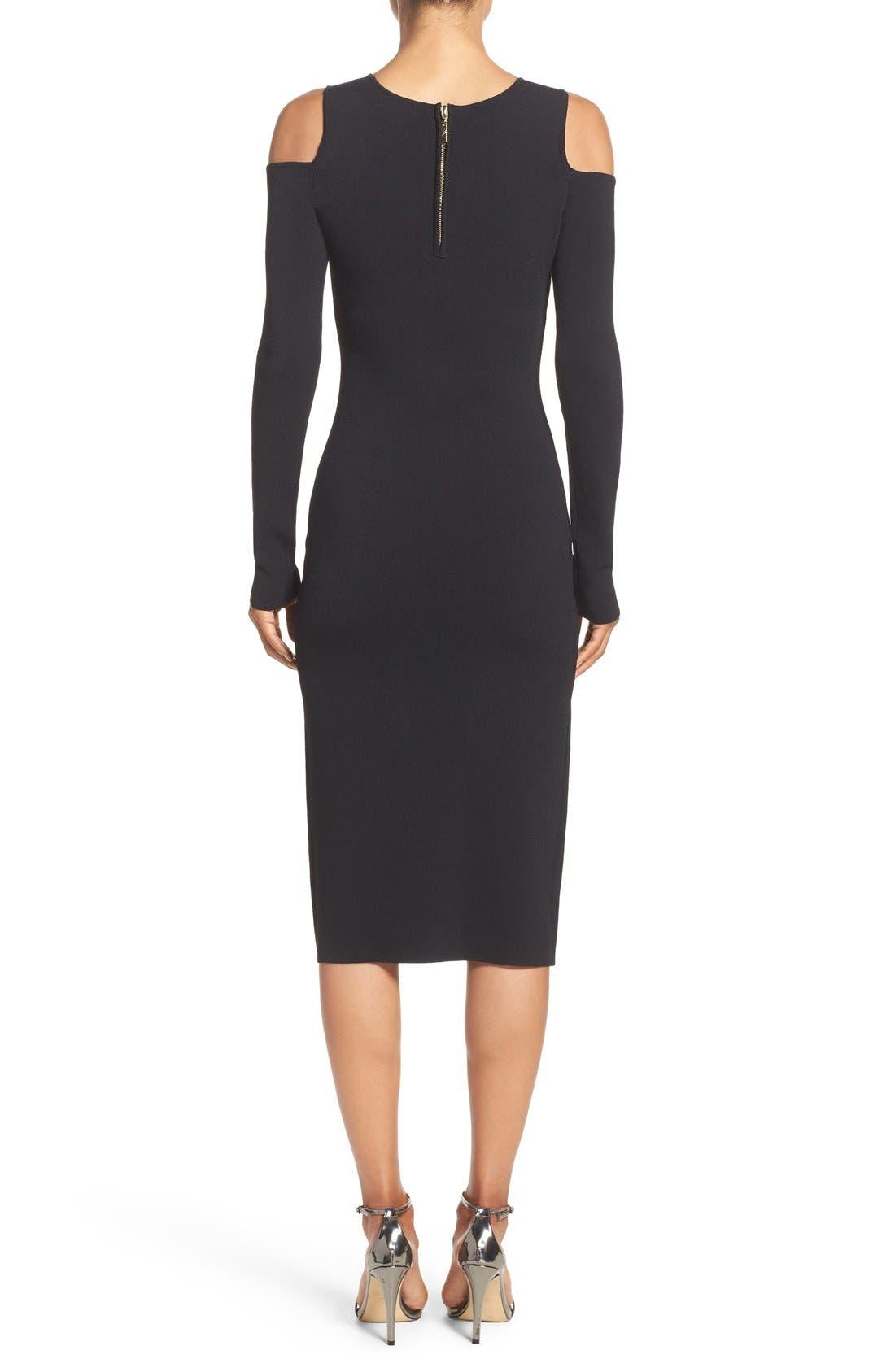 Cold Shoulder Knit Body-Con Dress,                             Alternate thumbnail 10, color,