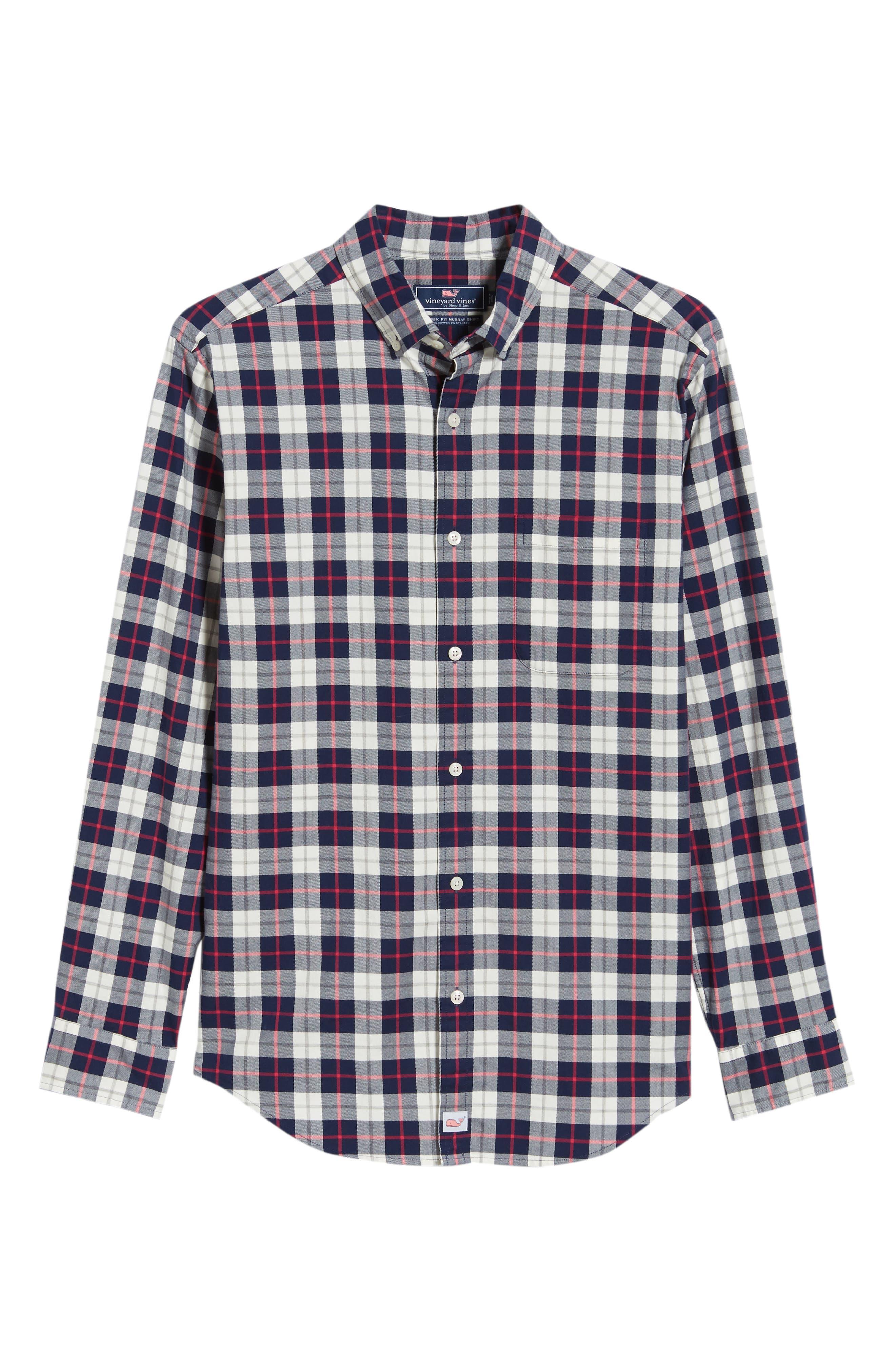 Riverbank Regular Fit Plaid Sport Shirt,                             Alternate thumbnail 5, color,                             KATAMA BAY