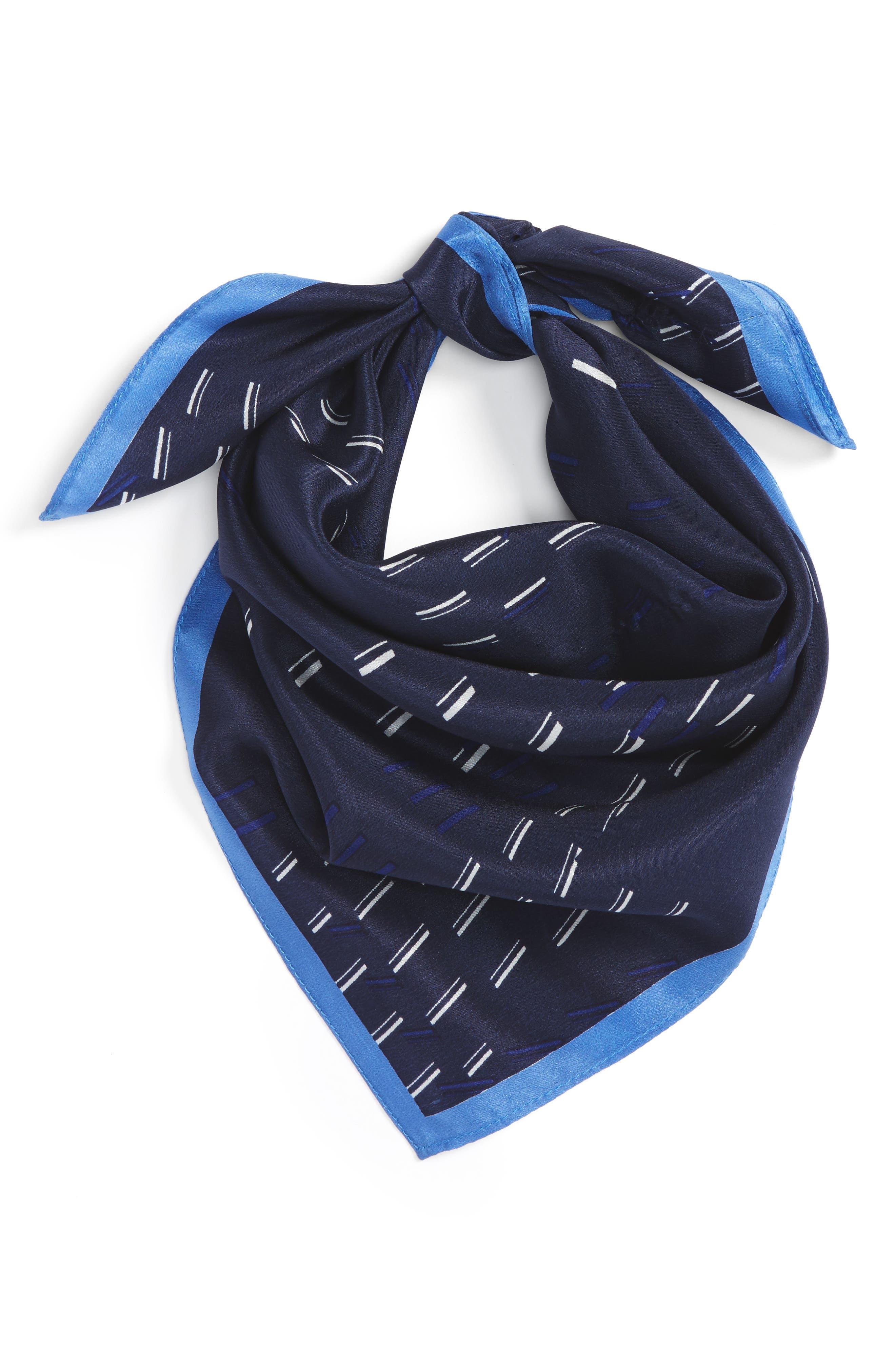 Square Silk Scarf,                         Main,                         color, 410