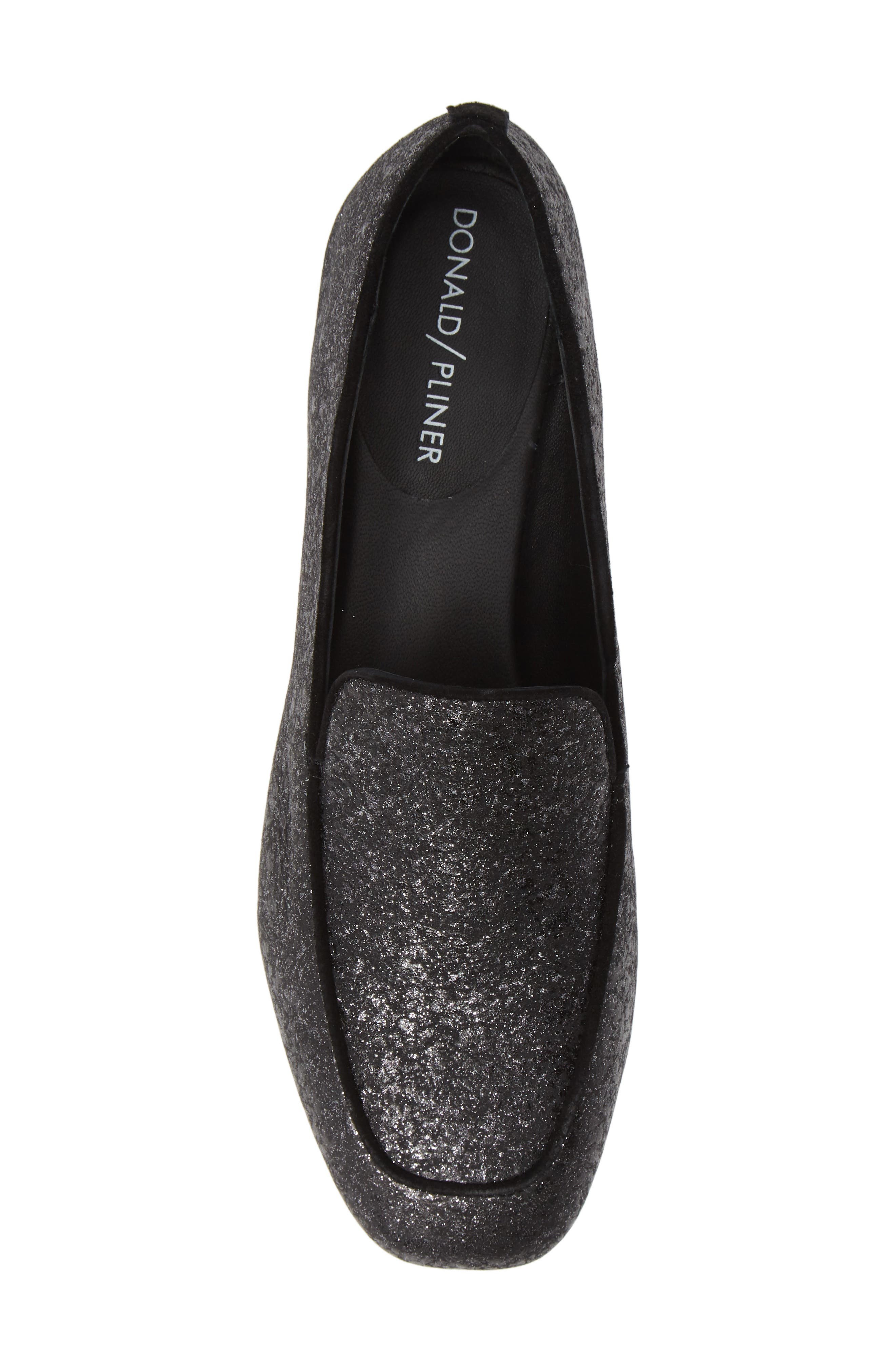 Heddy Loafer,                             Alternate thumbnail 5, color,                             SILVER GLITTER SUEDE