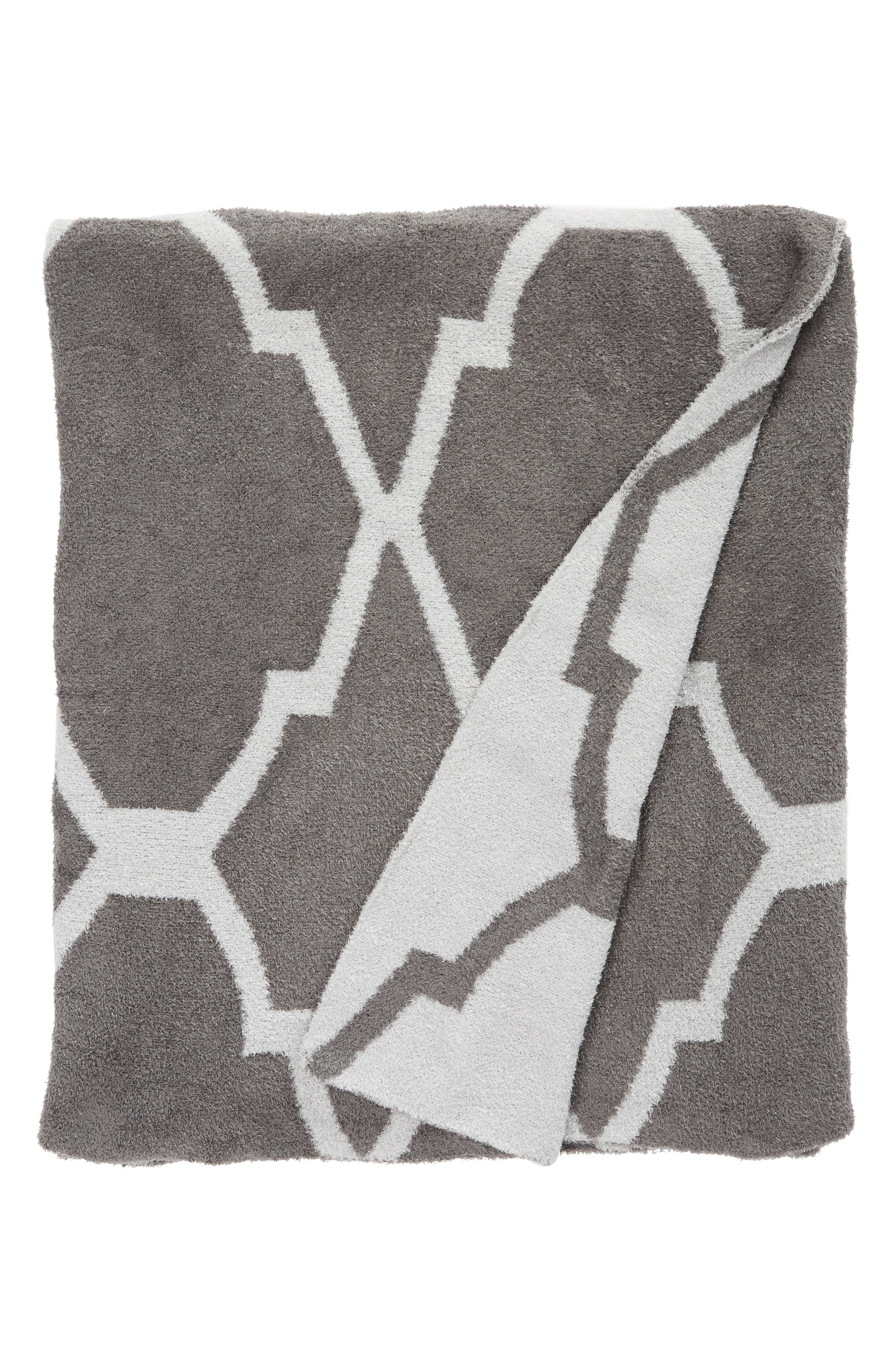 'Moroccan Dolce' Throw,                         Main,                         color, CHARCOAL/ SILVER