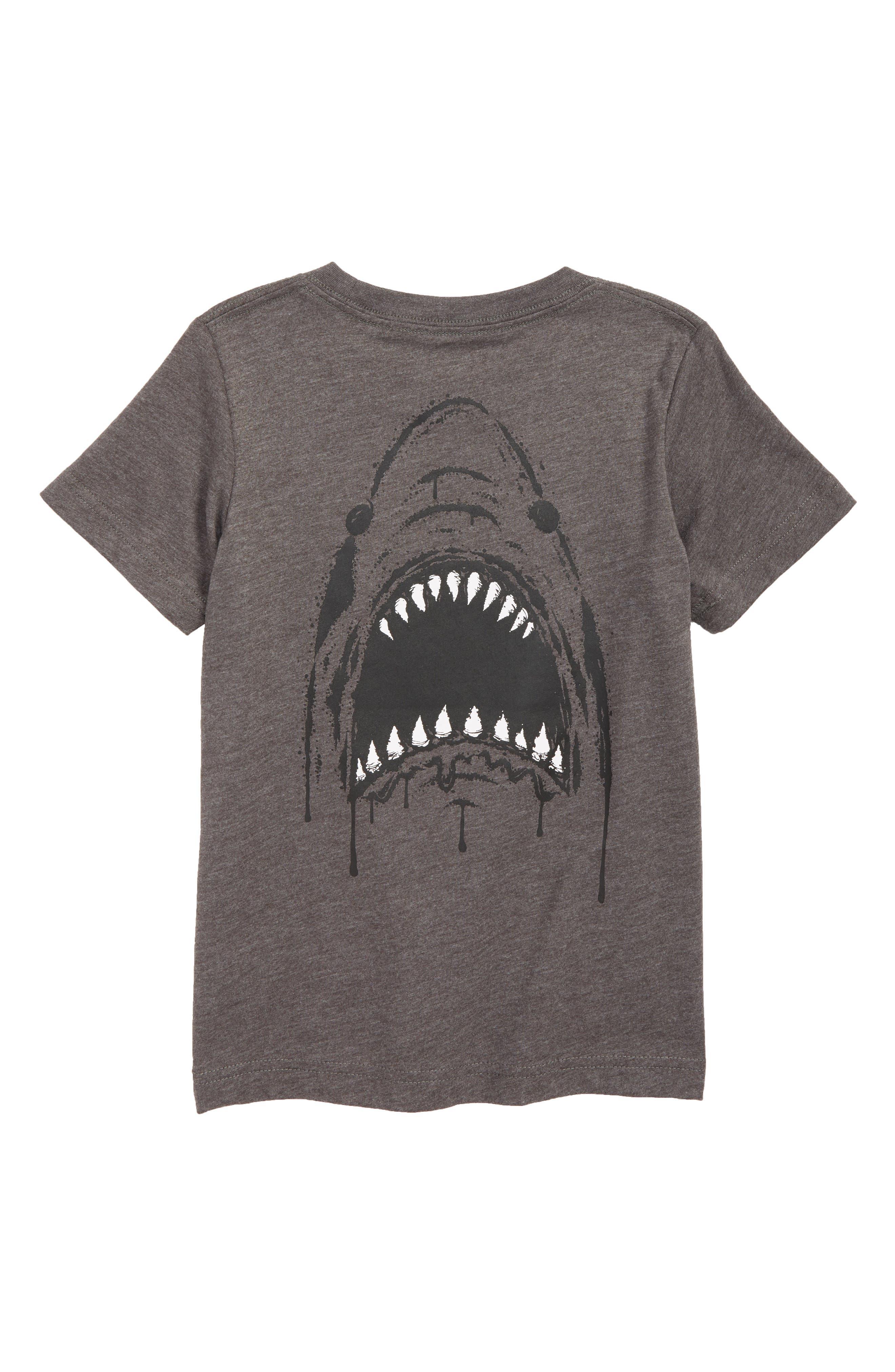 Shark T-Shirt,                             Alternate thumbnail 2, color,                             CHARCOAL HEATHER