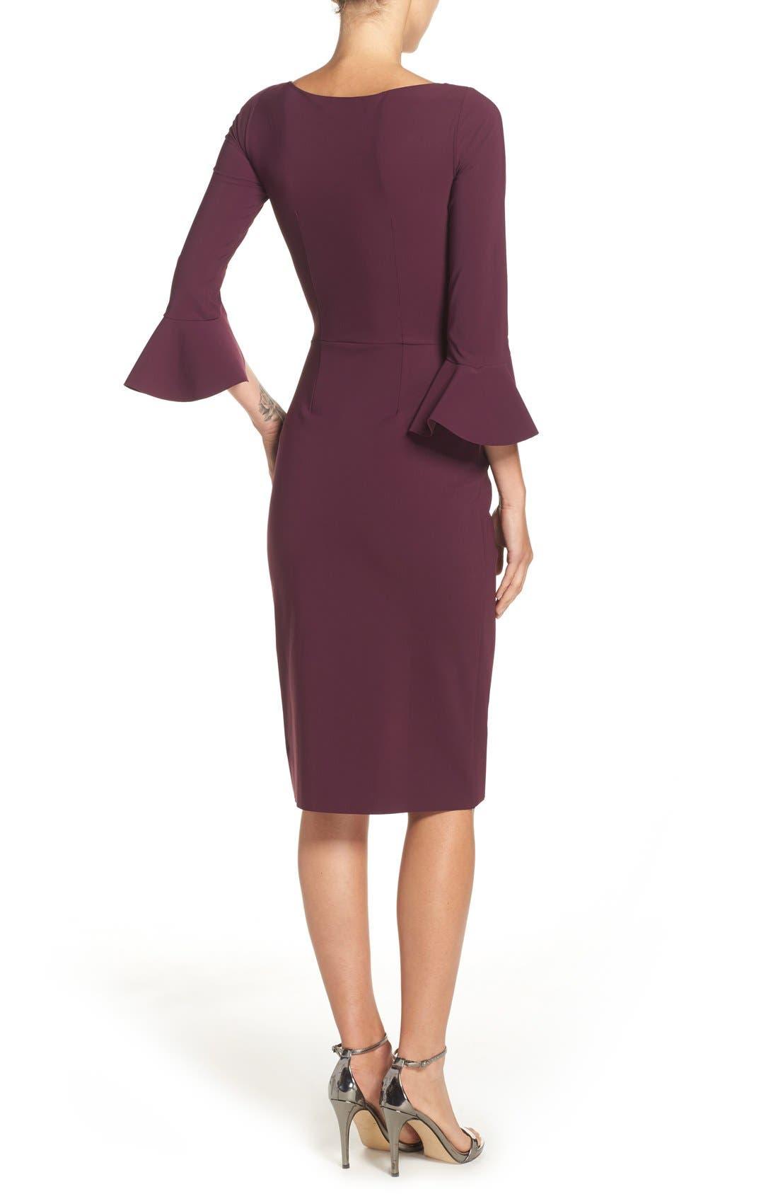 CHIARA BONI LA PETITE ROBE,                             'Triana' Jersey Sheath Dress,                             Alternate thumbnail 6, color,                             501