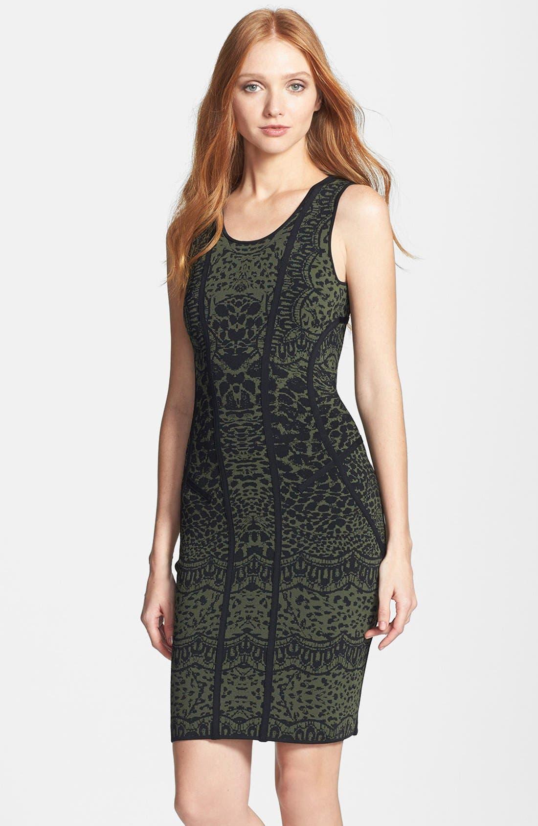 'Cairo' Print Knit Tank Dress,                             Main thumbnail 1, color,                             001