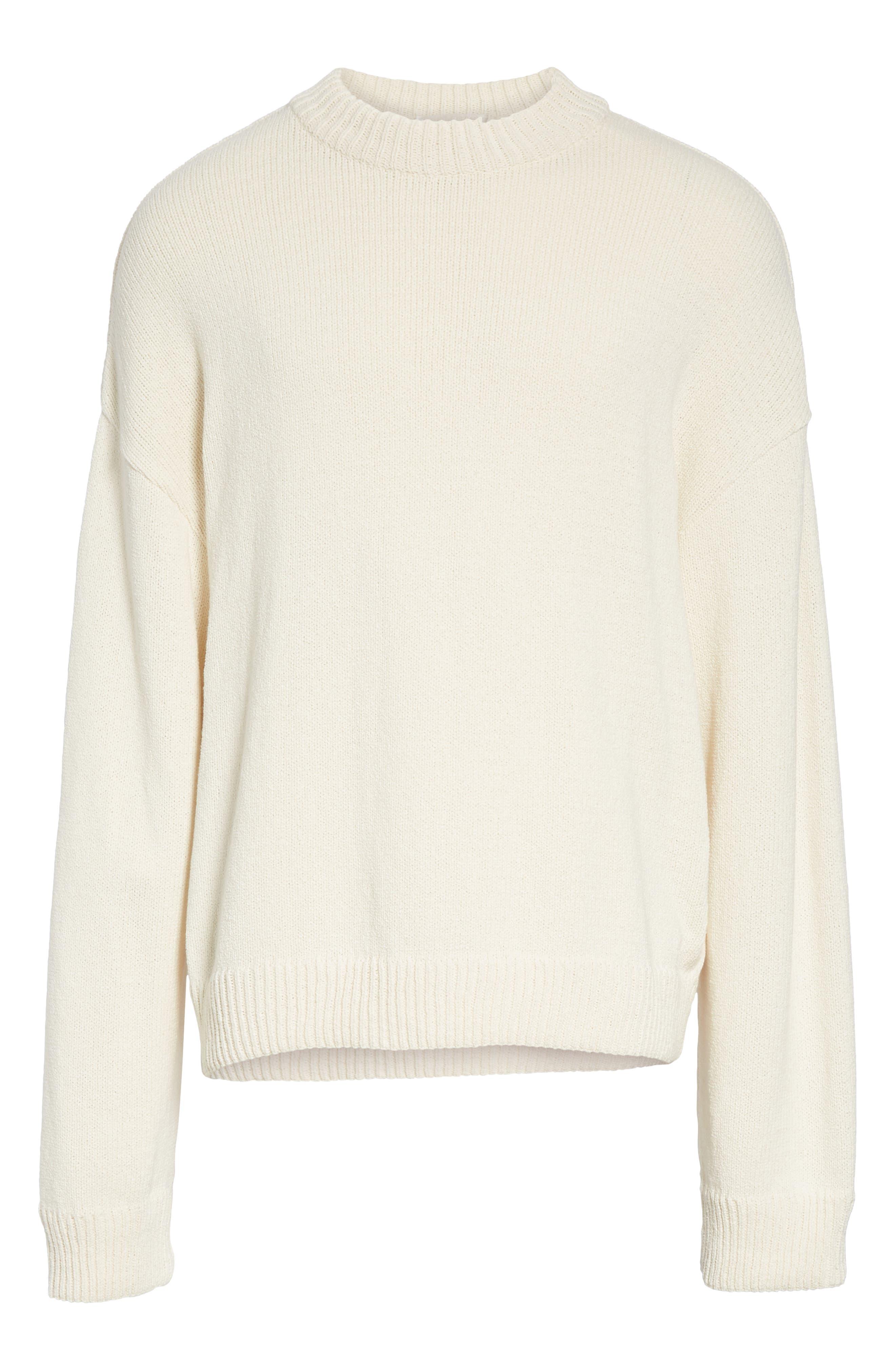 Somar Oversized Crewneck Sweater,                             Alternate thumbnail 6, color,                             100