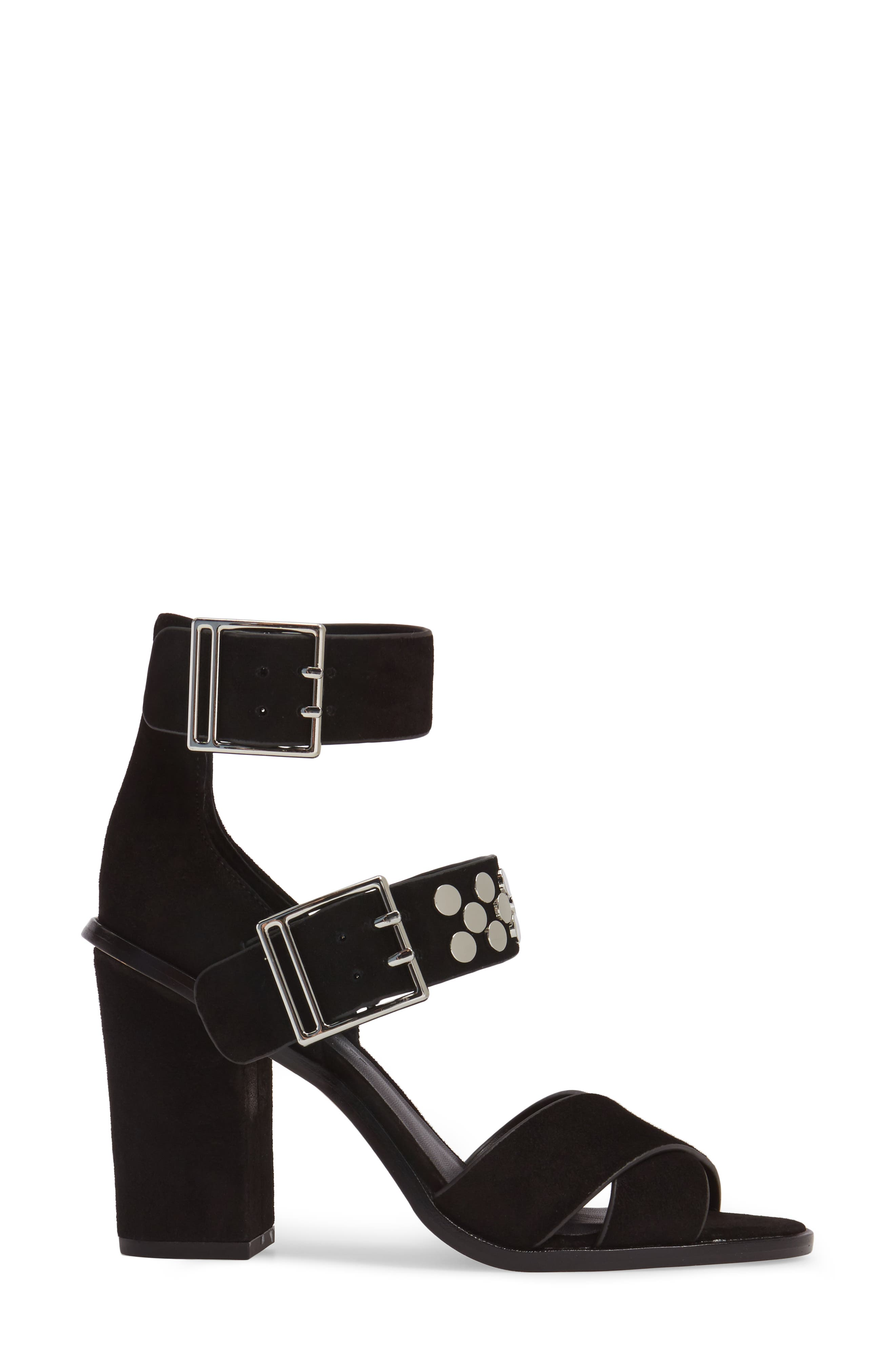 Jennifer Studded Ankle Cuff Sandal,                             Alternate thumbnail 3, color,                             004