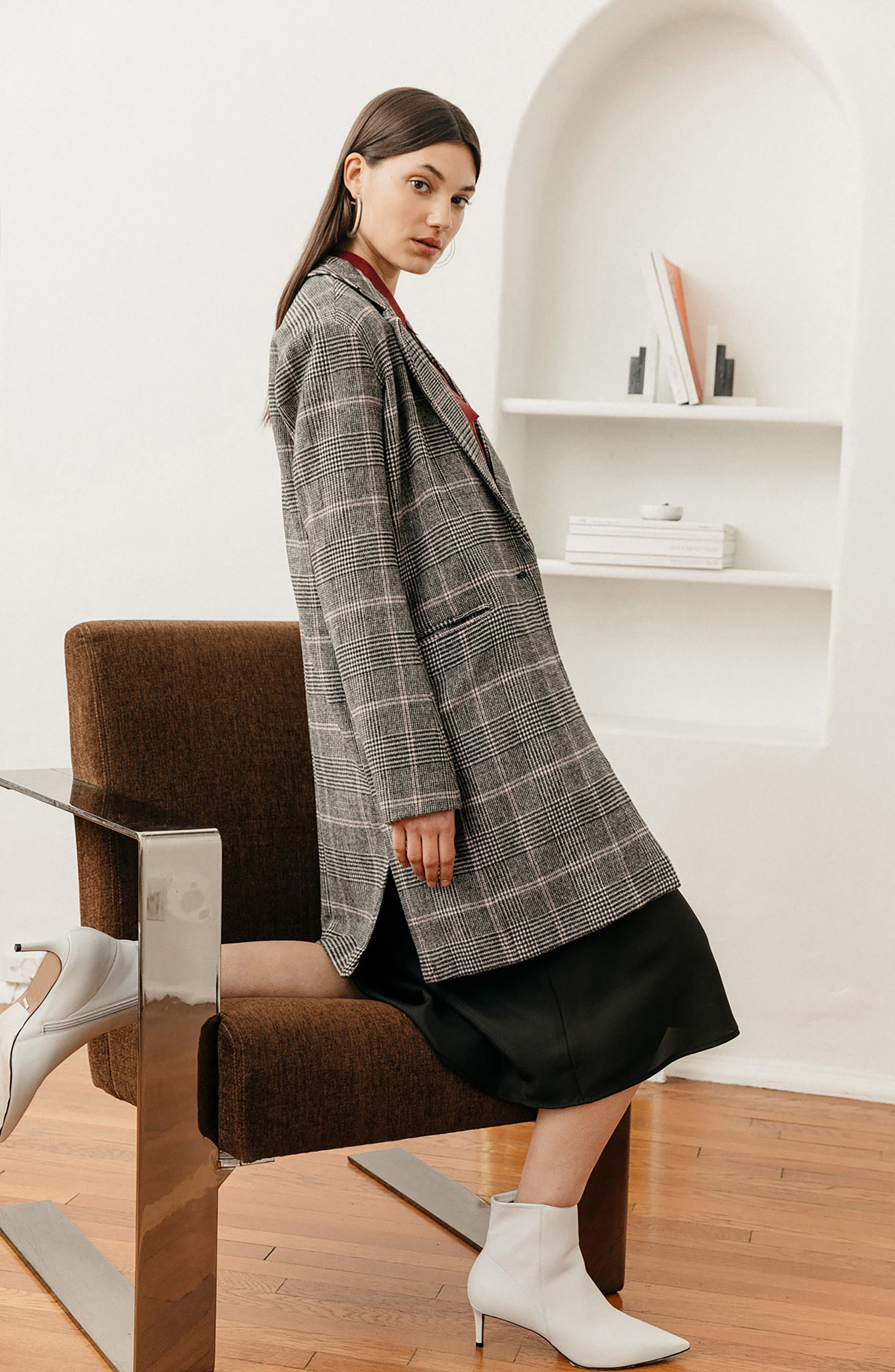 Anders Plaid Coat,                             Alternate thumbnail 10, color,                             CHARCOAL PINK PLAID