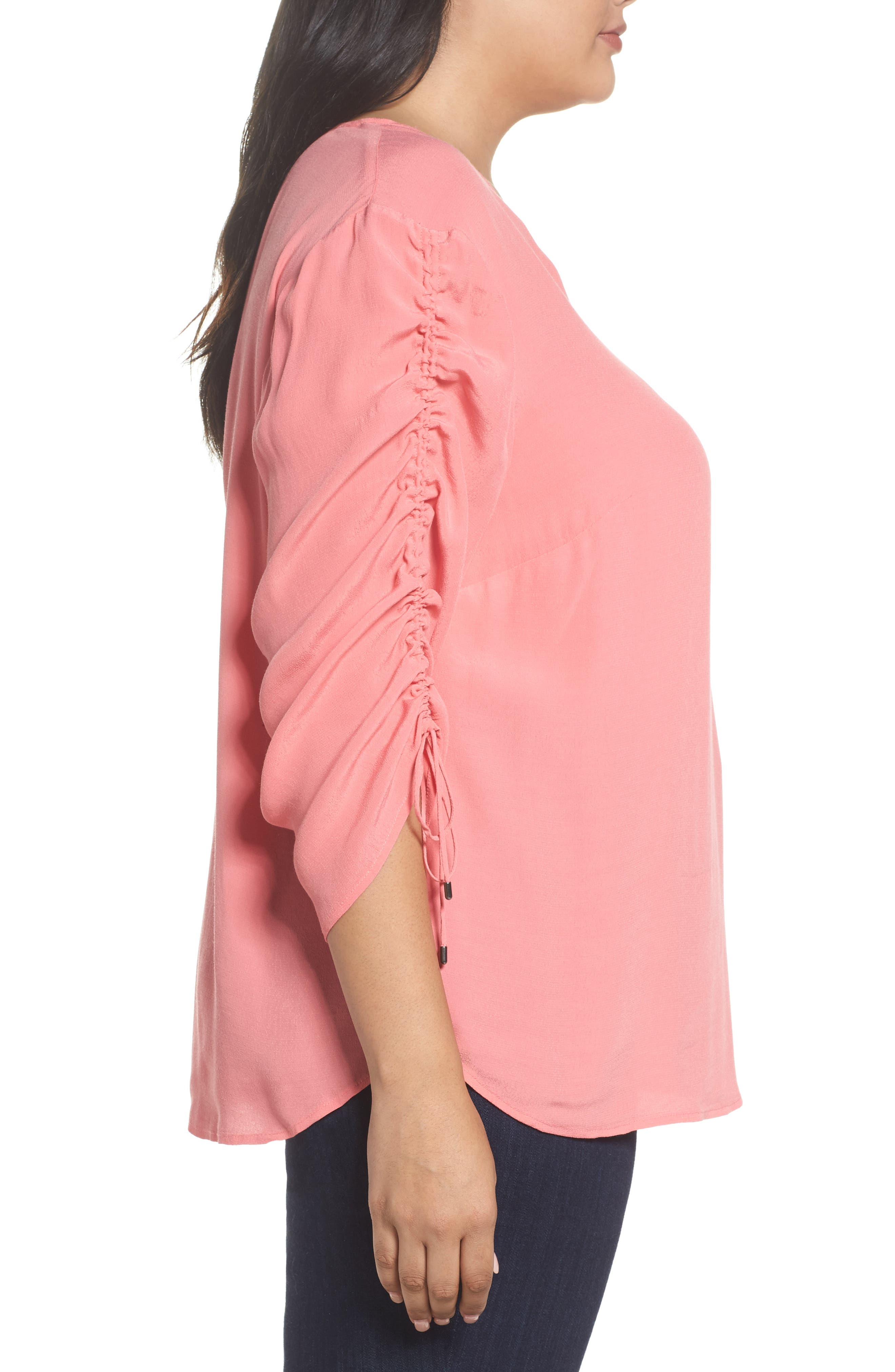 Cinched Sleeve Top,                             Alternate thumbnail 9, color,
