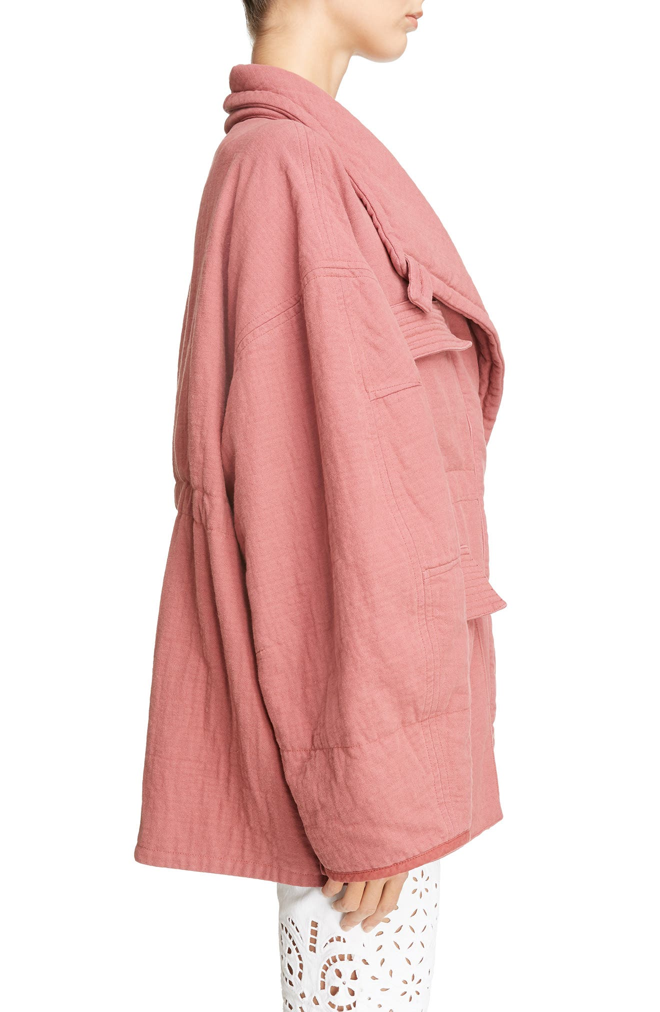 Oversize Textured Cotton Jacket,                             Alternate thumbnail 3, color,                             600