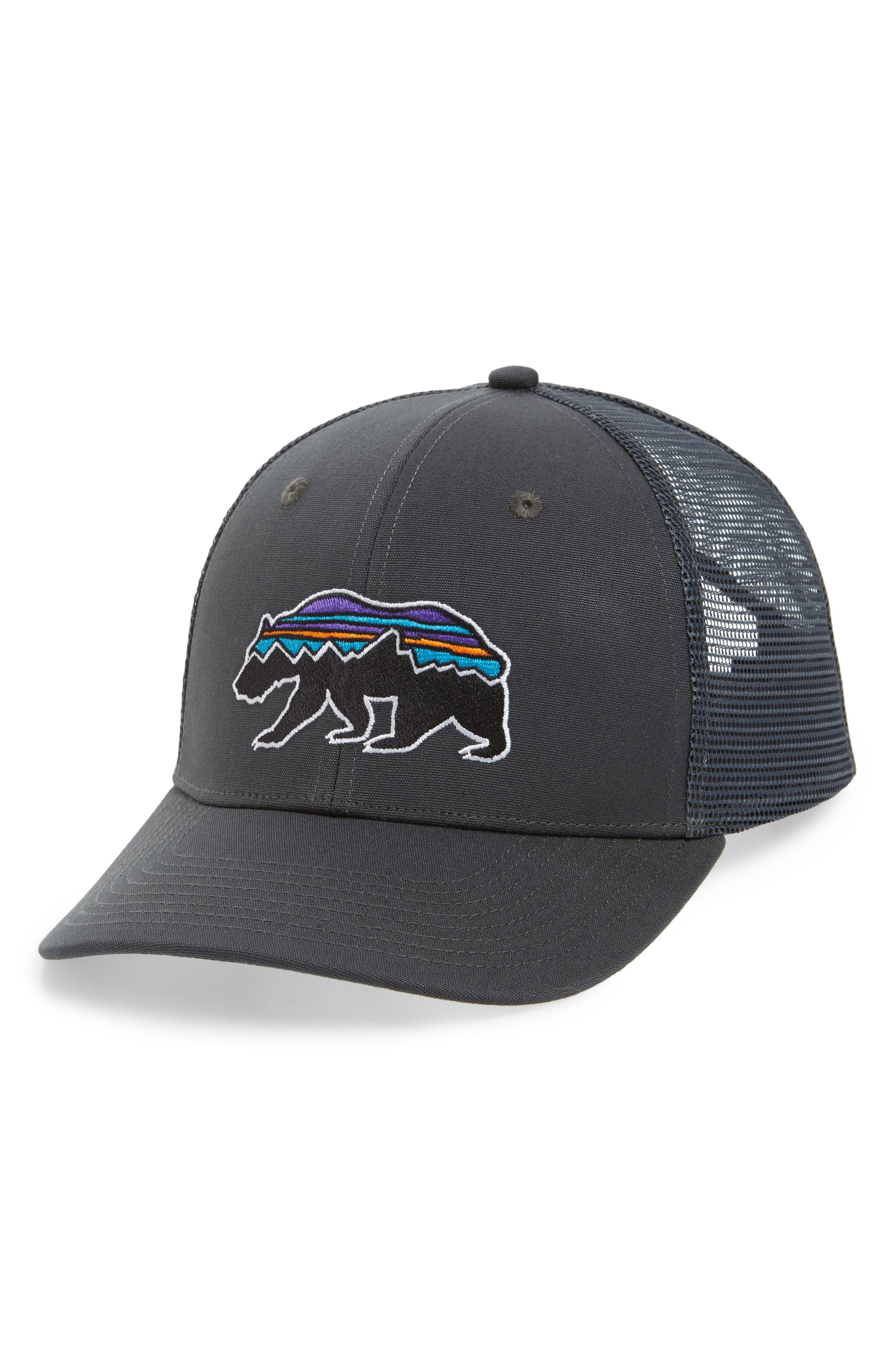 Fitz Roy Bear Trucker Cap,                         Main,                         color, FORGE GREY