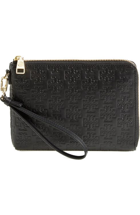 4fd13615e34 Tory Burch  Embossed T - Large  Smartphone Wristlet