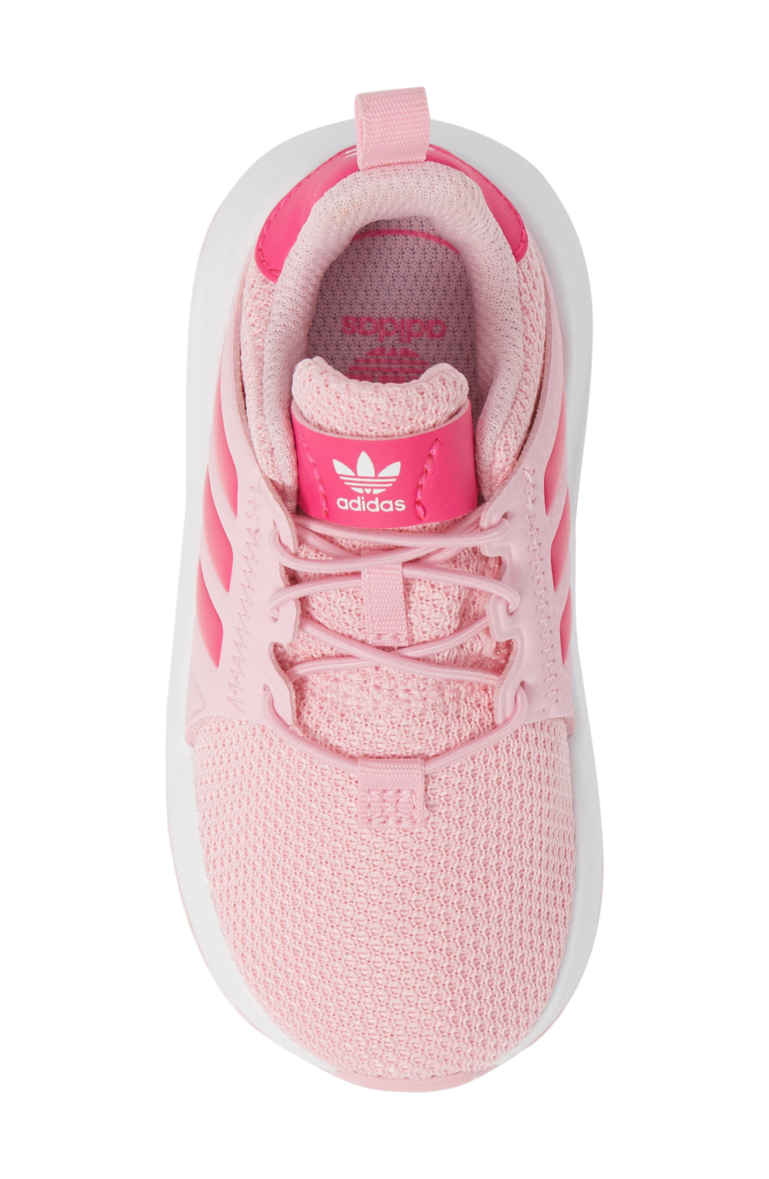 ADIDAS,                             X_PLR Sneaker,                             Alternate thumbnail 5, color,                             TRUE PINK/ SHOCK PINK/ WHITE