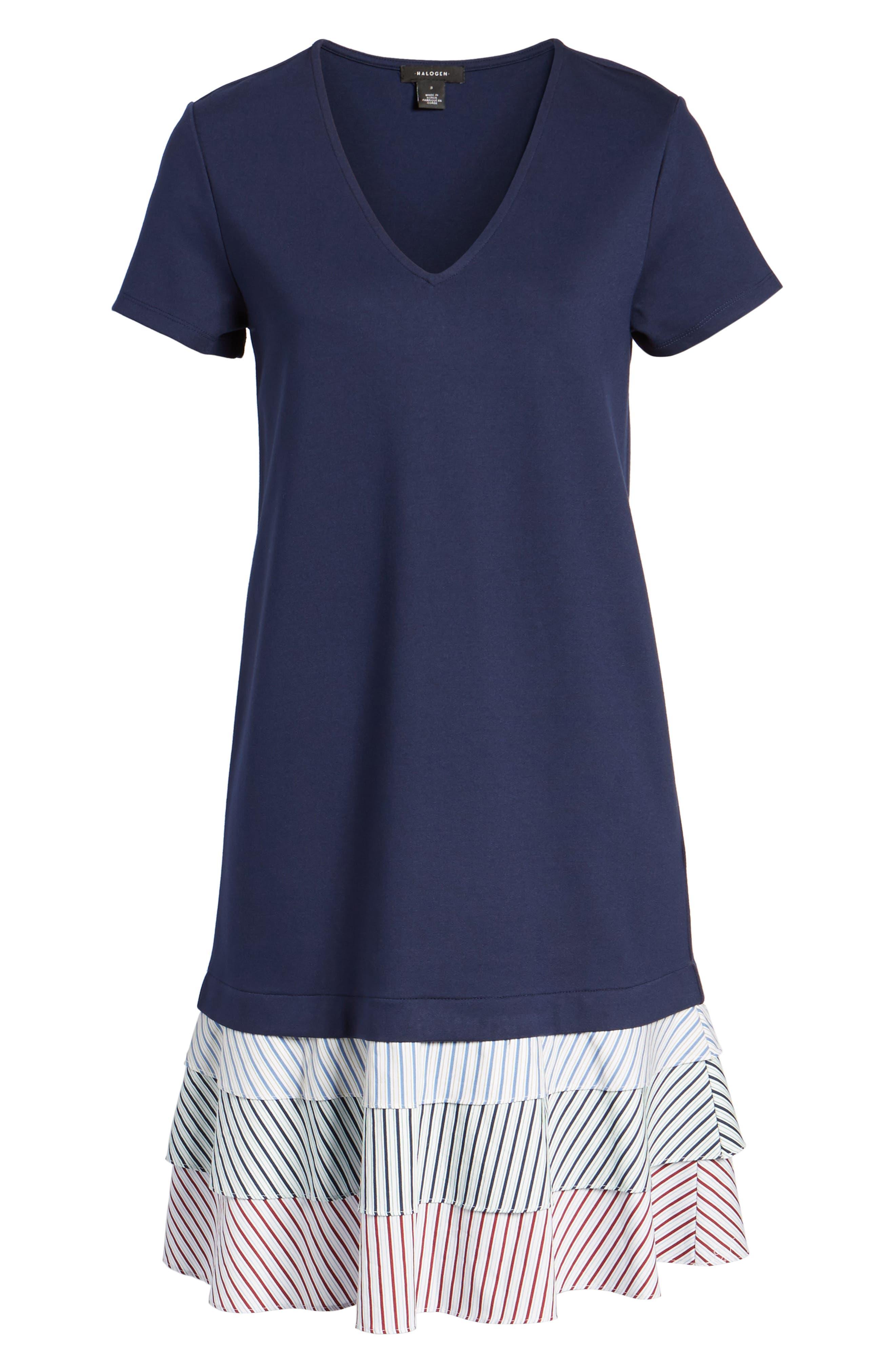Ruffle Hem Knit Dress,                             Alternate thumbnail 6, color,