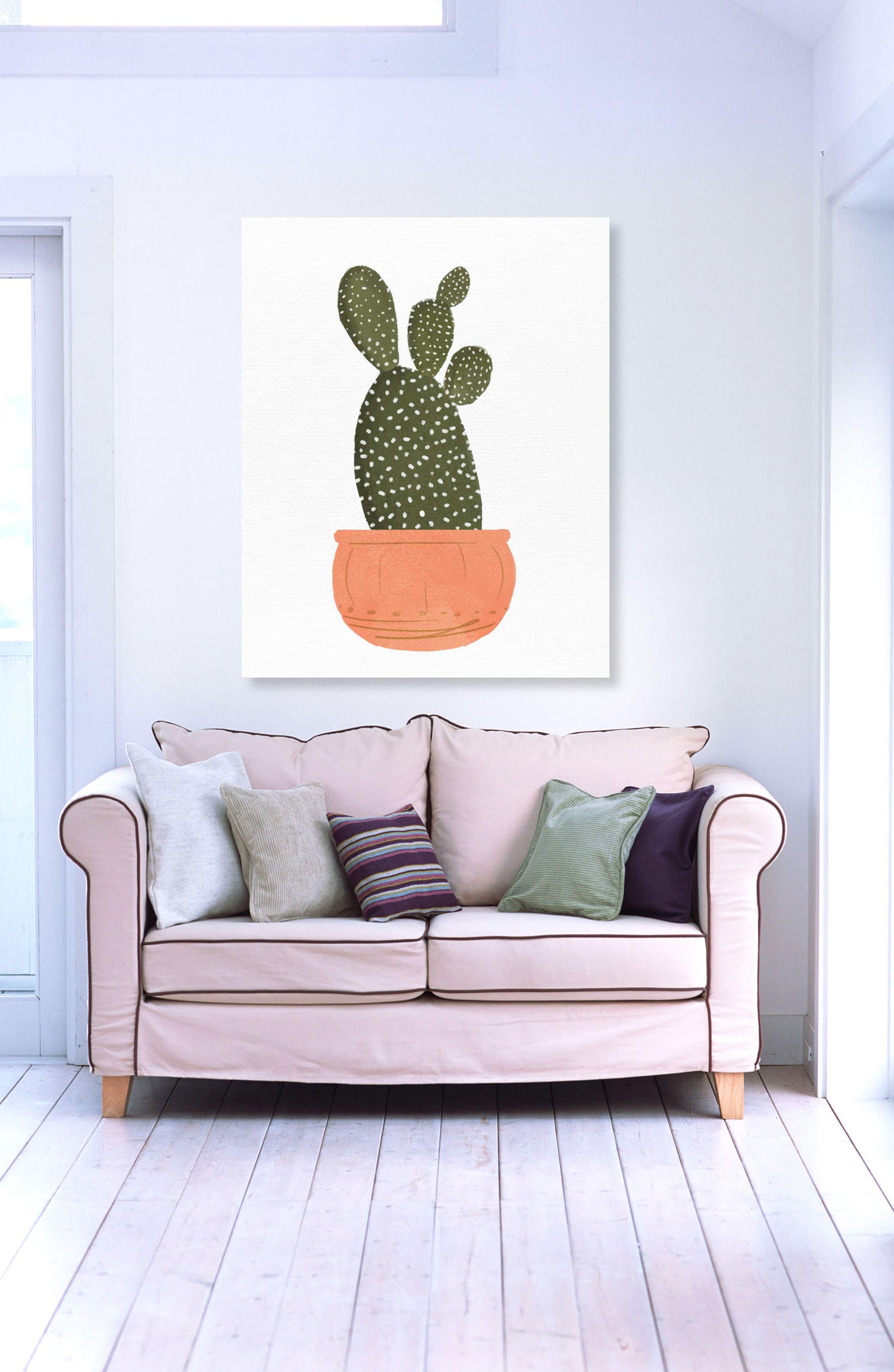 Cactus Coral II Canvas Wall Art,                             Alternate thumbnail 2, color,                             GREEN