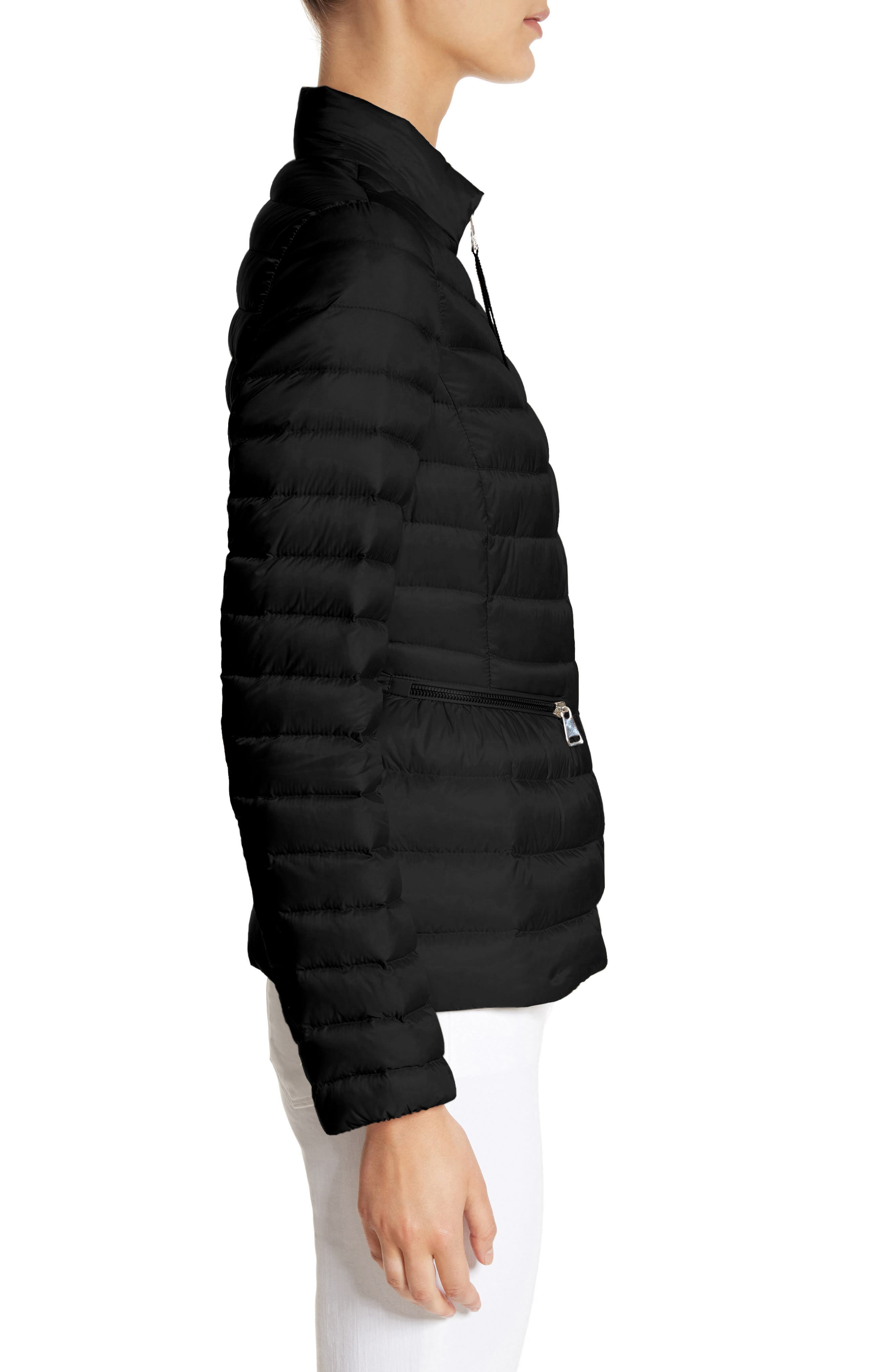 MONCLER,                             Agate Quilted Puffer Jacket,                             Alternate thumbnail 3, color,                             001