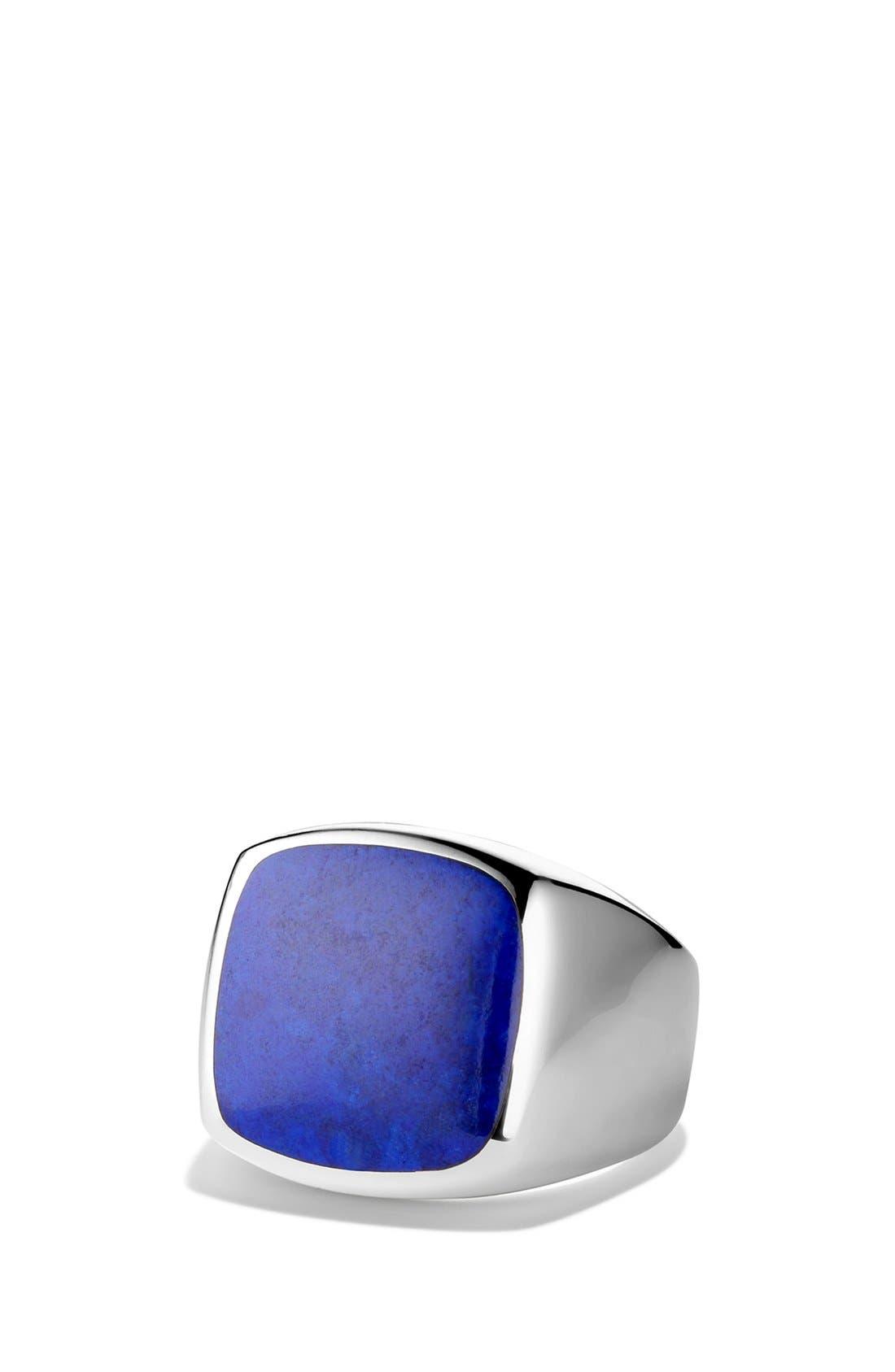 'Chevron' Signet Ring,                             Main thumbnail 4, color,