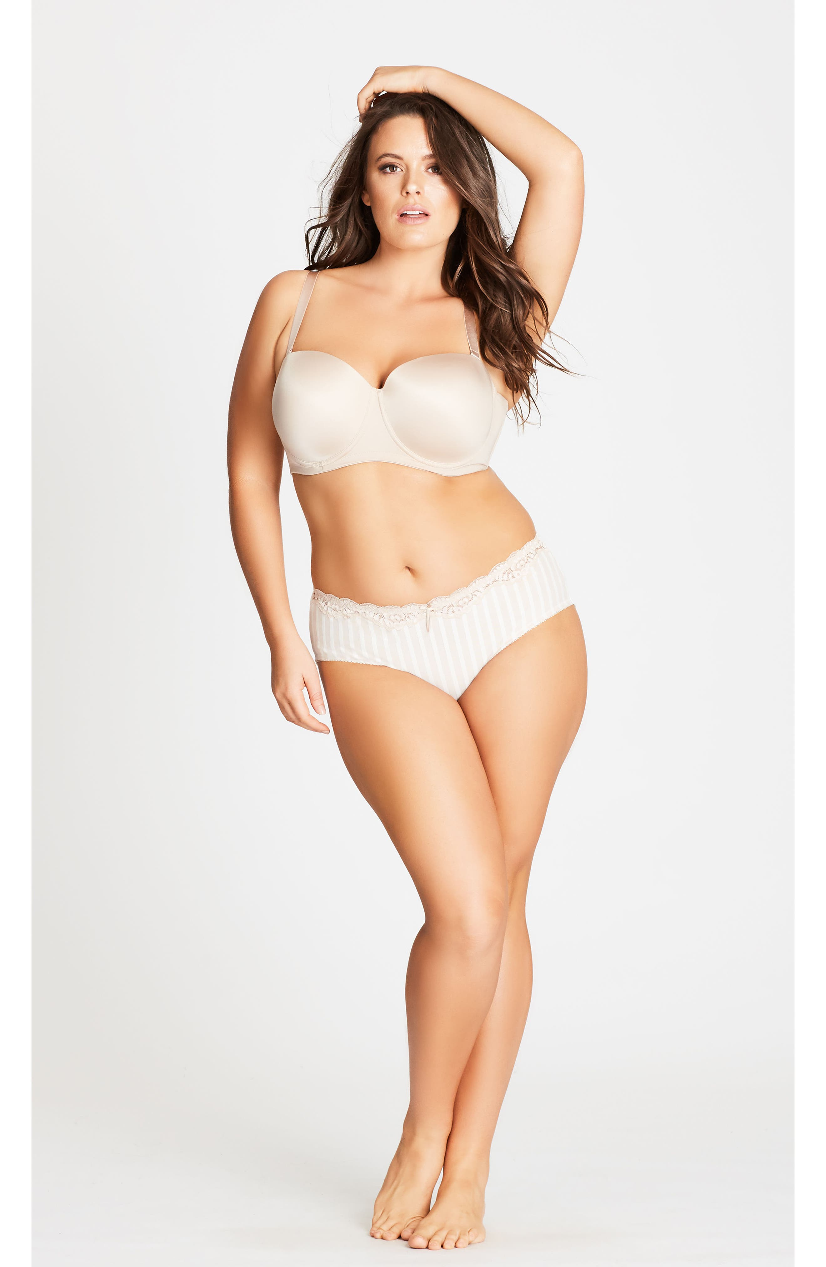 Adore Strapless Underwire Bra,                             Alternate thumbnail 3, color,                             LATTE