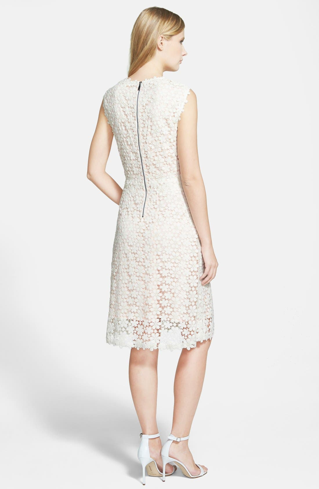 'Ophelia' Floral Lace Dress,                             Alternate thumbnail 3, color,                             101