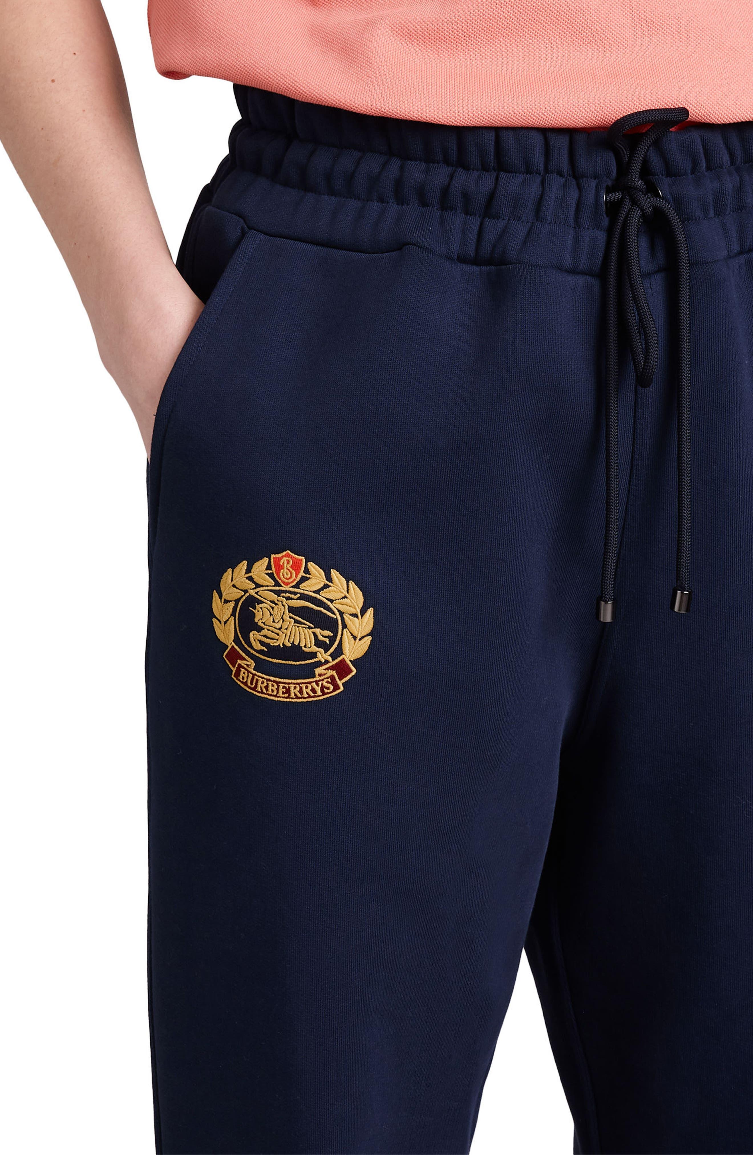 Vintage Crest Sweatpants,                             Alternate thumbnail 3, color,                             MIDNIGHT BLUE