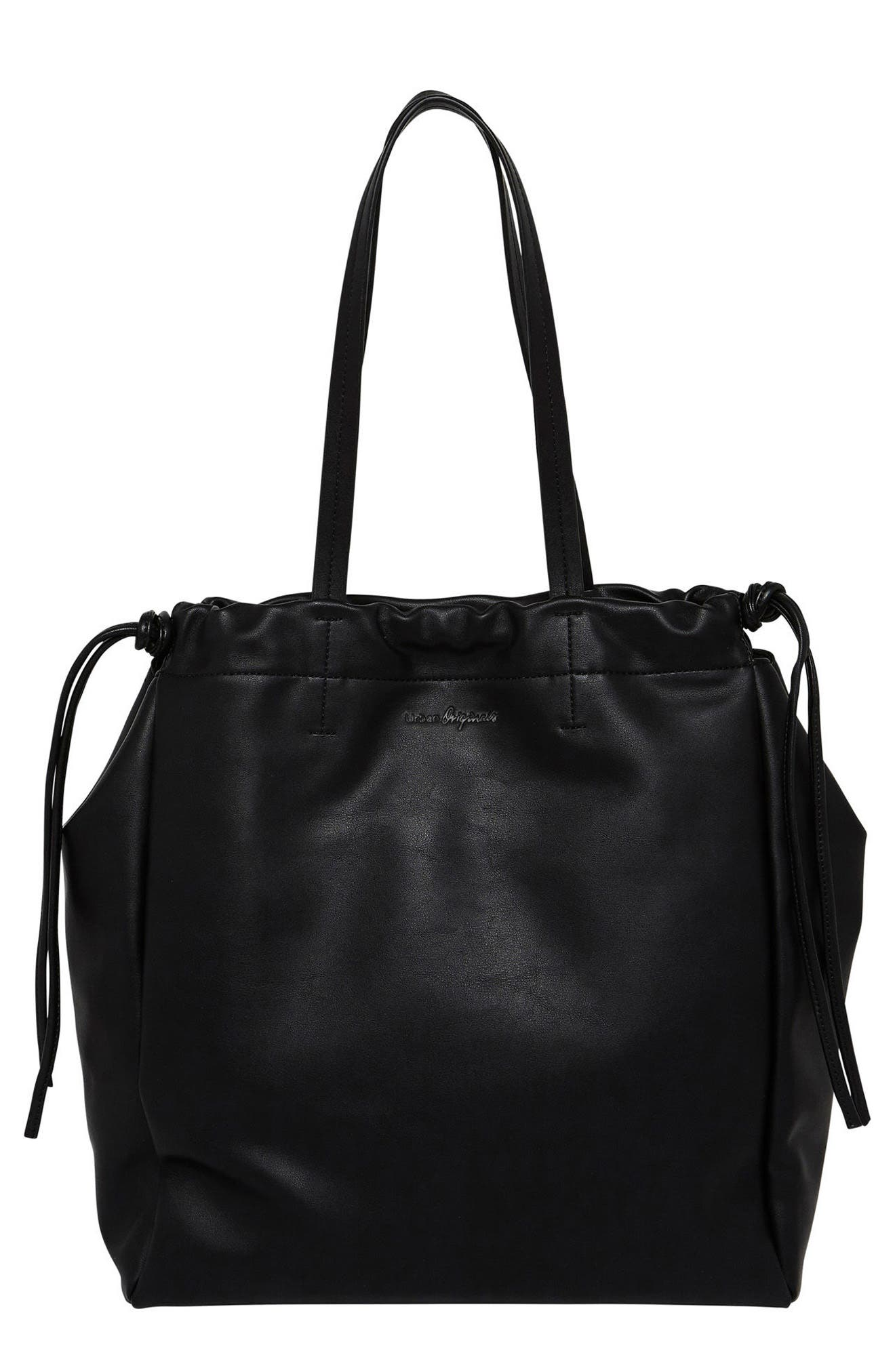Light & Shadows Vegan Leather Tote,                         Main,                         color, 001