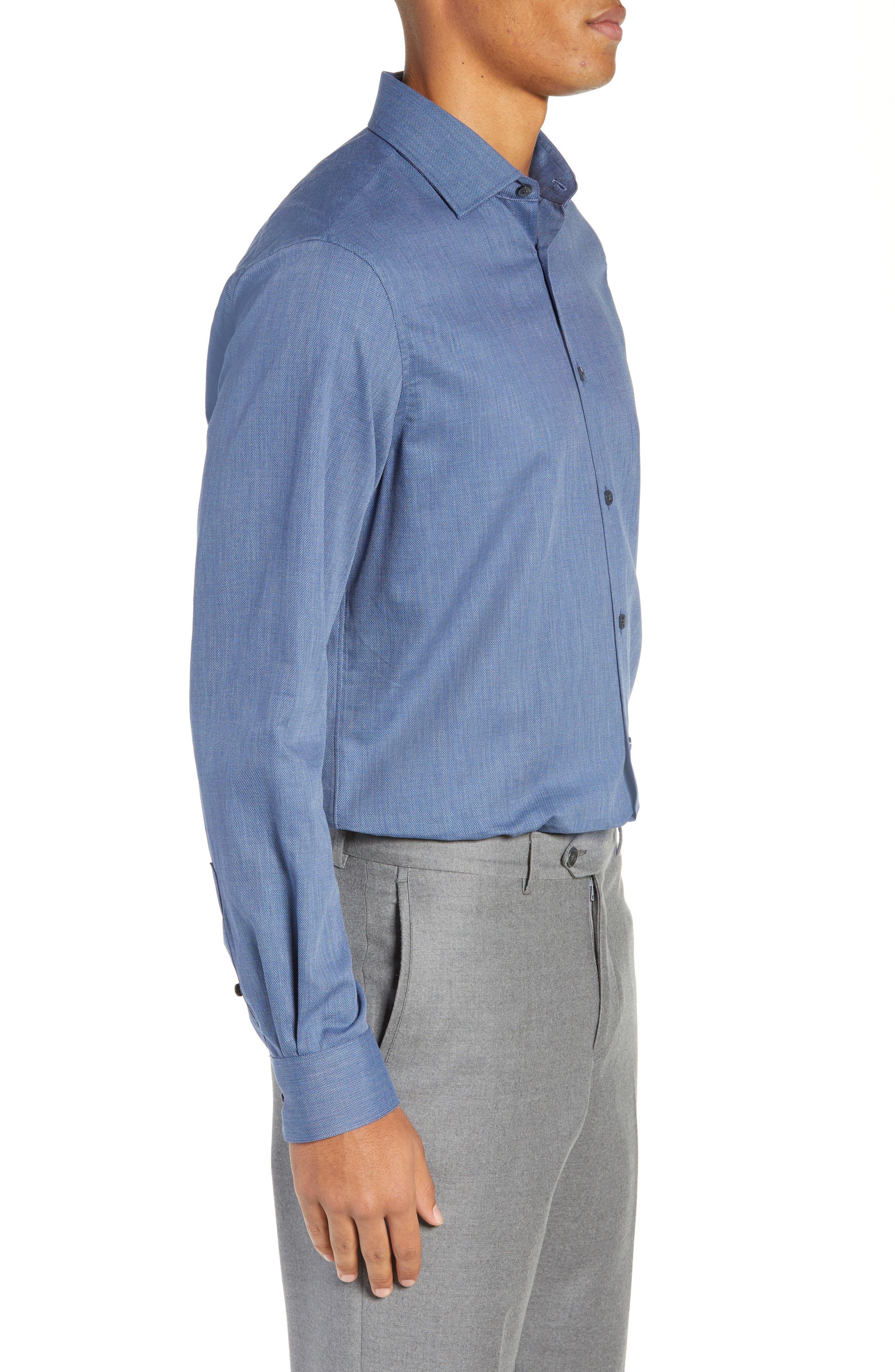 JOHN VARVATOS STAR USA,                             Regular Fit Solid Dress Shirt,                             Alternate thumbnail 4, color,                             415