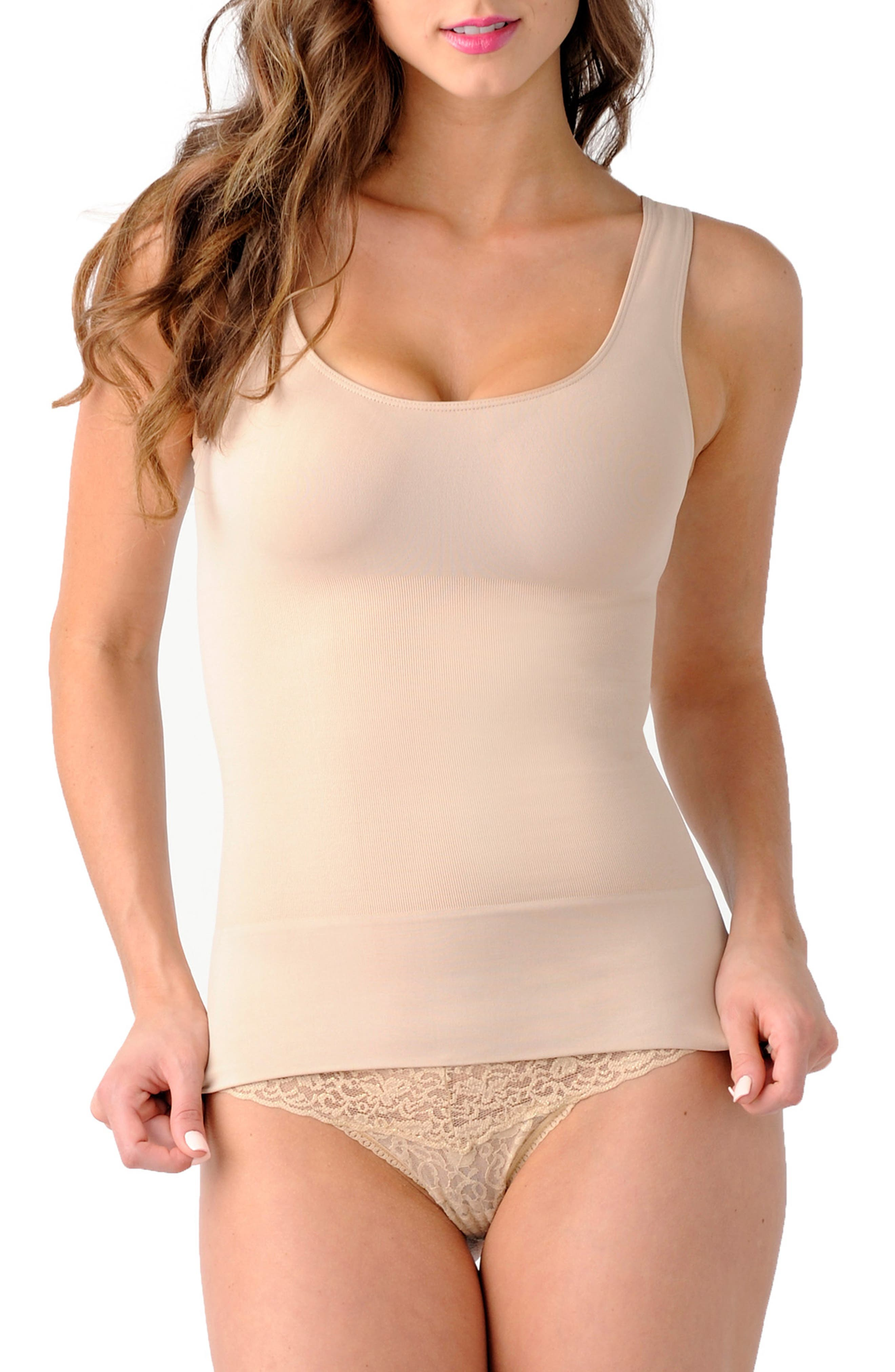 'Mother Tucker<sup>®</sup>' Scoop Neck Compression Tank,                             Alternate thumbnail 2, color,                             NUDE