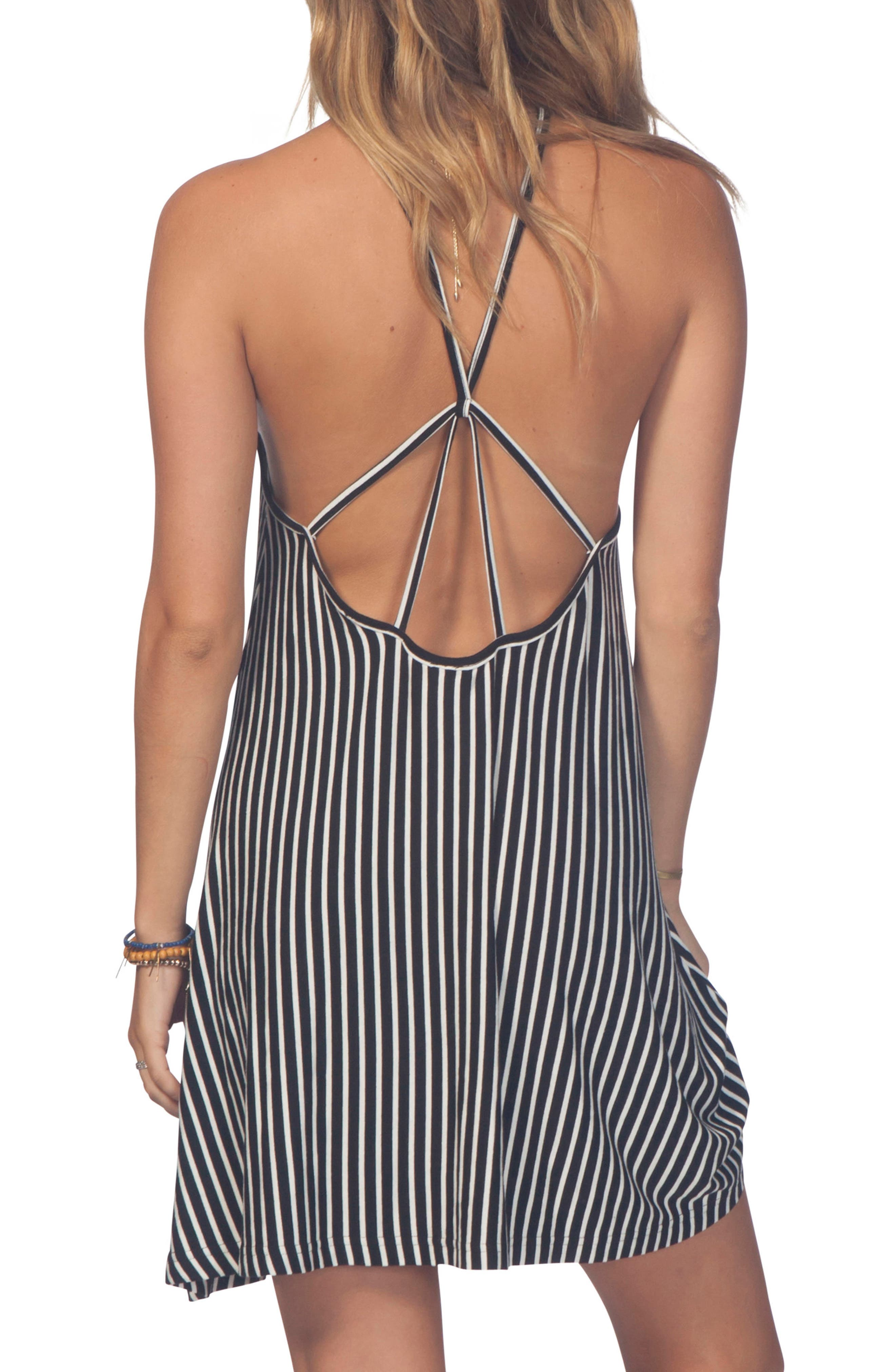 Day Tripper Strappy Swing Dress,                             Alternate thumbnail 2, color,                             001
