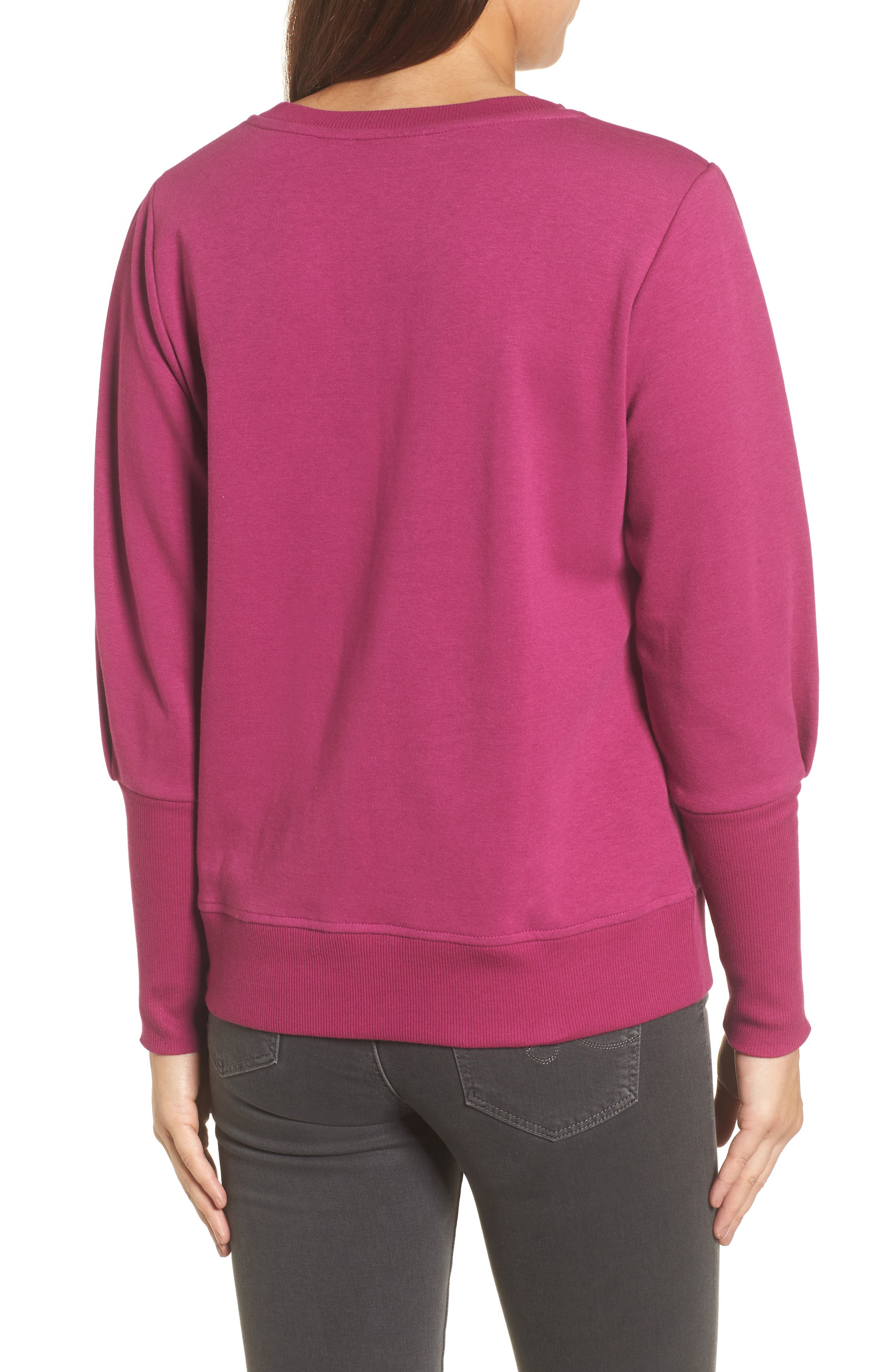 Blouson Sleeve Sweatshirt,                             Alternate thumbnail 10, color,