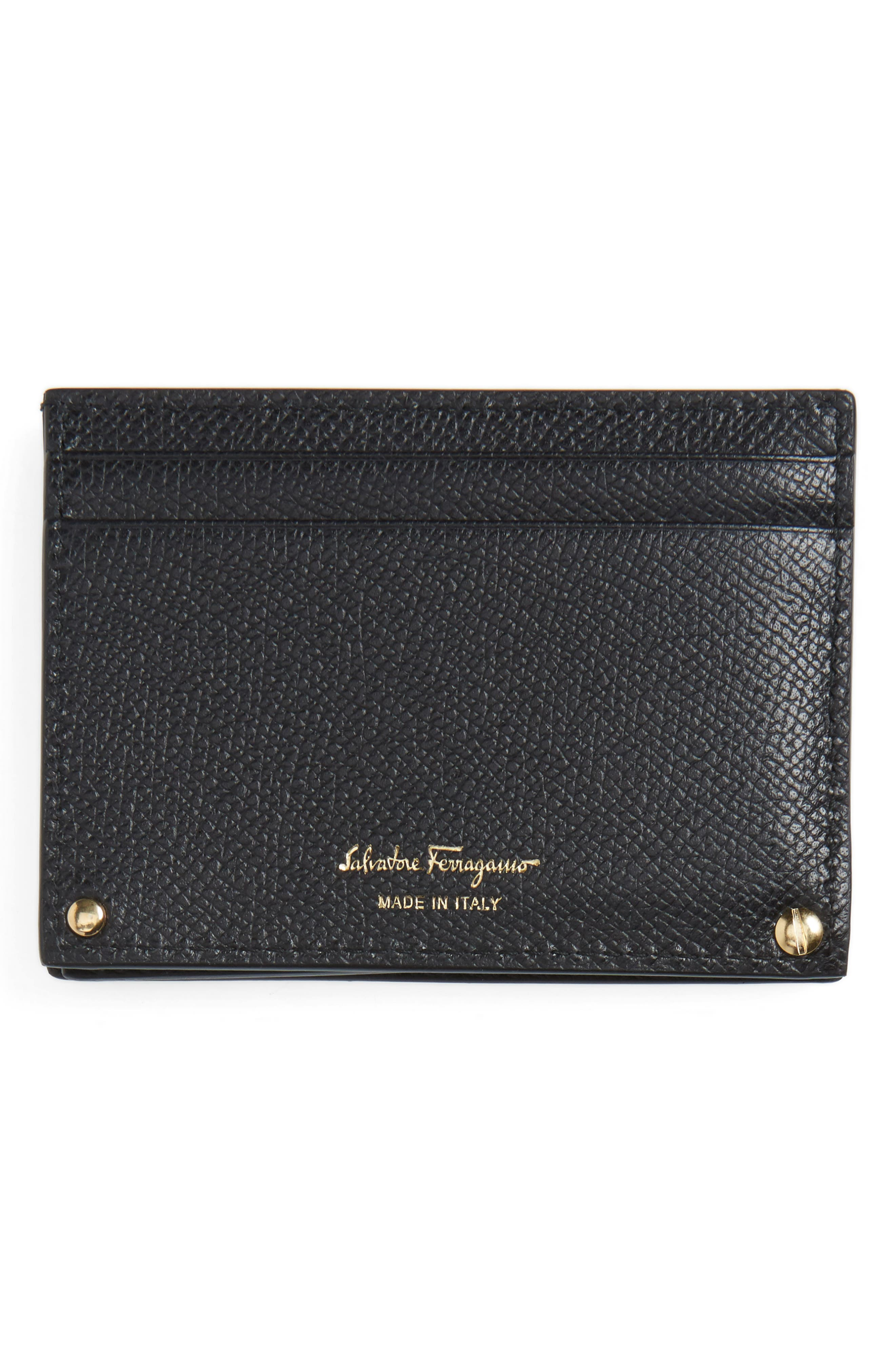 Gancio Leather Card Case,                             Alternate thumbnail 2, color,                             001