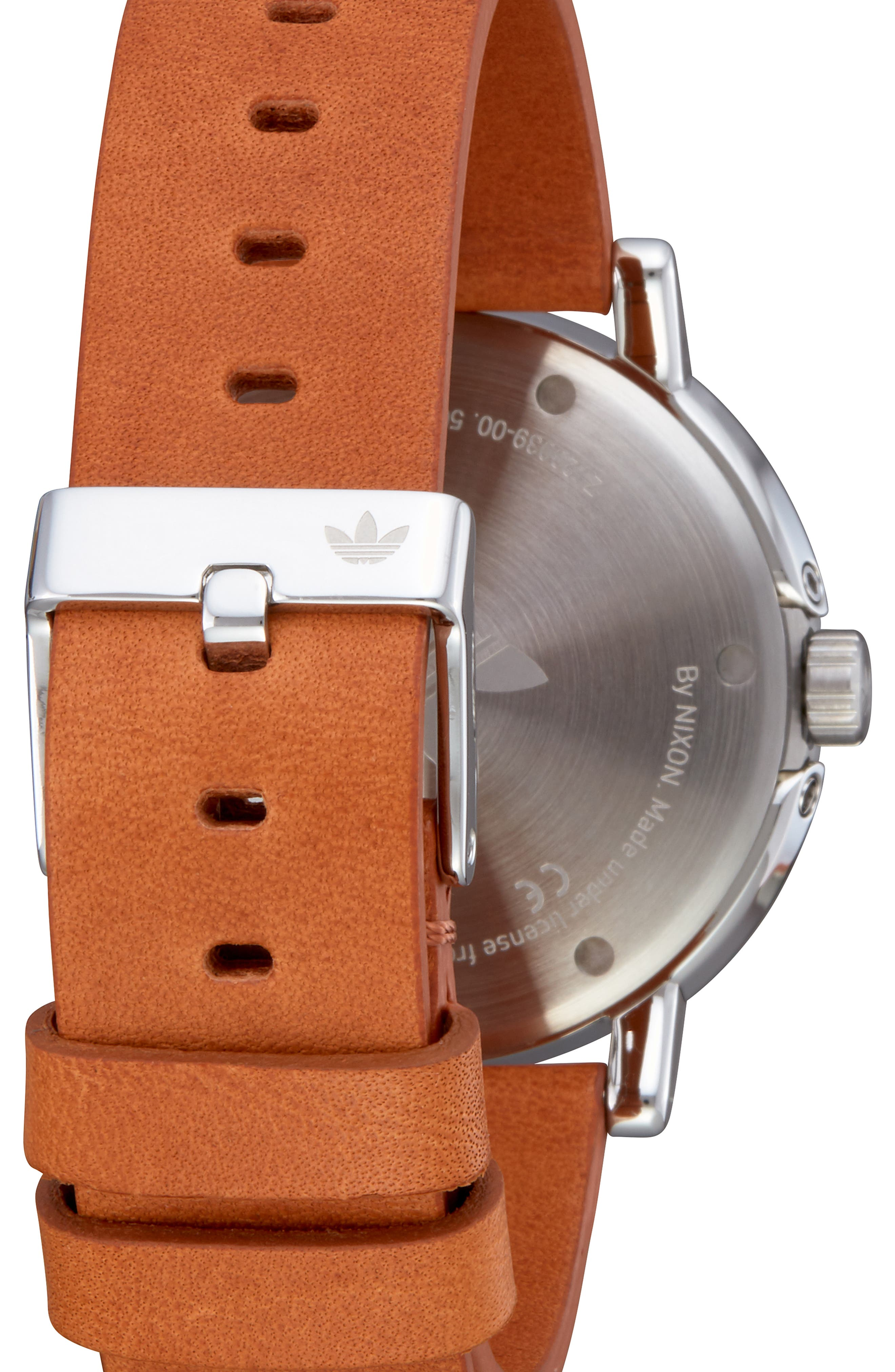 District Leather Strap Watch, 40mm,                             Alternate thumbnail 2, color,                             TAN/ SILVER