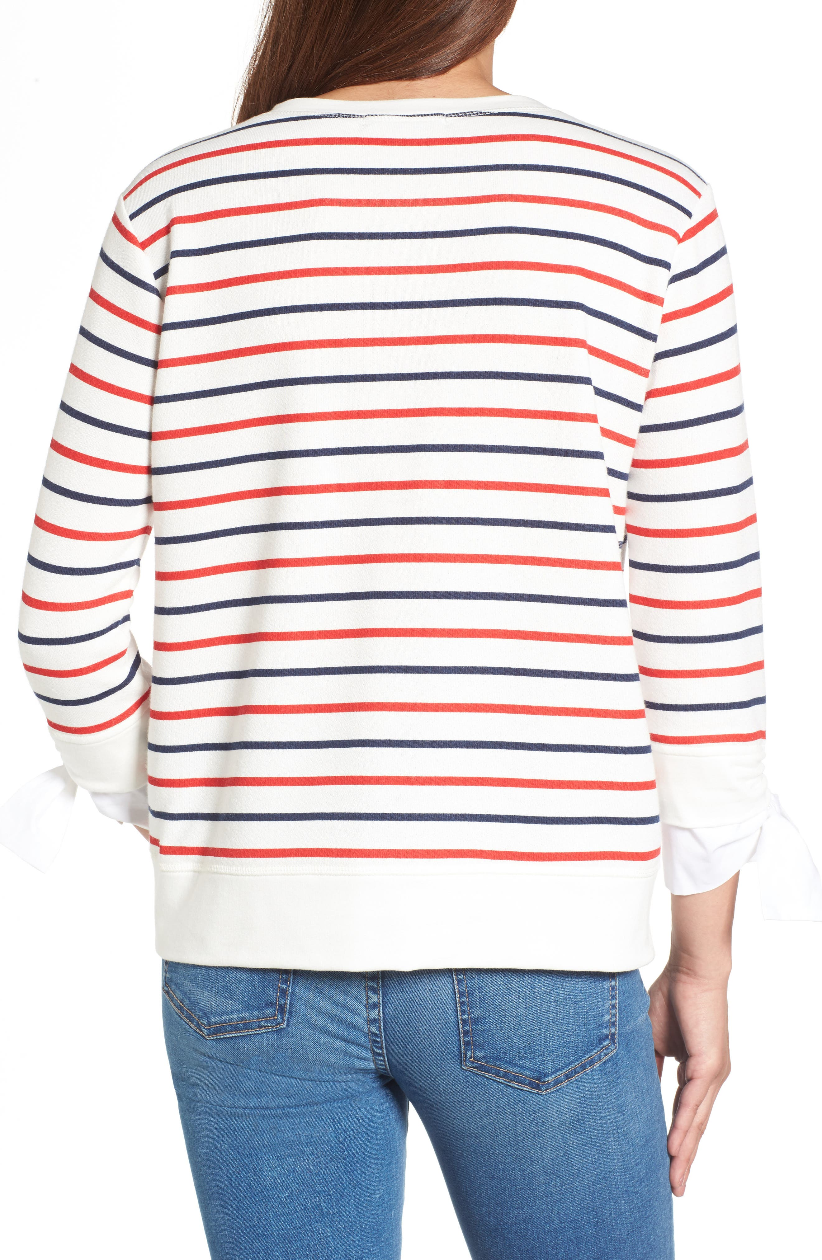 Tie Sleeve Sweatshirt,                             Alternate thumbnail 2, color,                             419