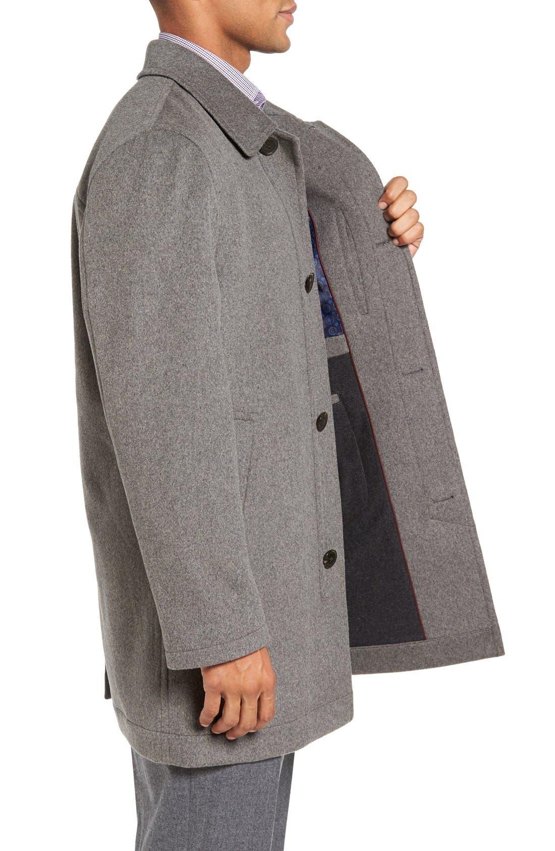 Douglas Modern Fit Wool & Cashmere Overcoat,                             Alternate thumbnail 8, color,