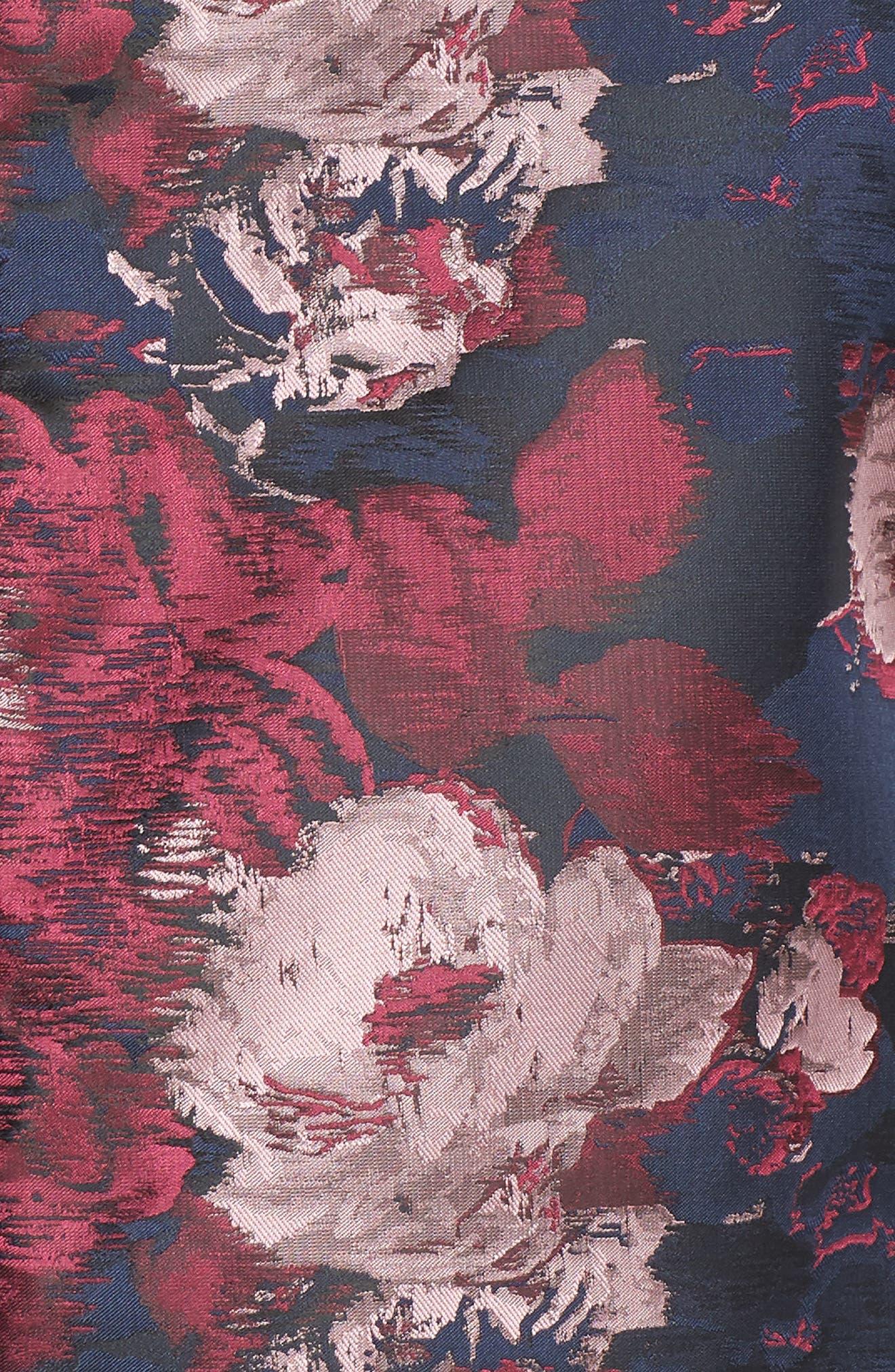 Print Jacquard Twinset,                             Alternate thumbnail 6, color,                             NAVY MULTI
