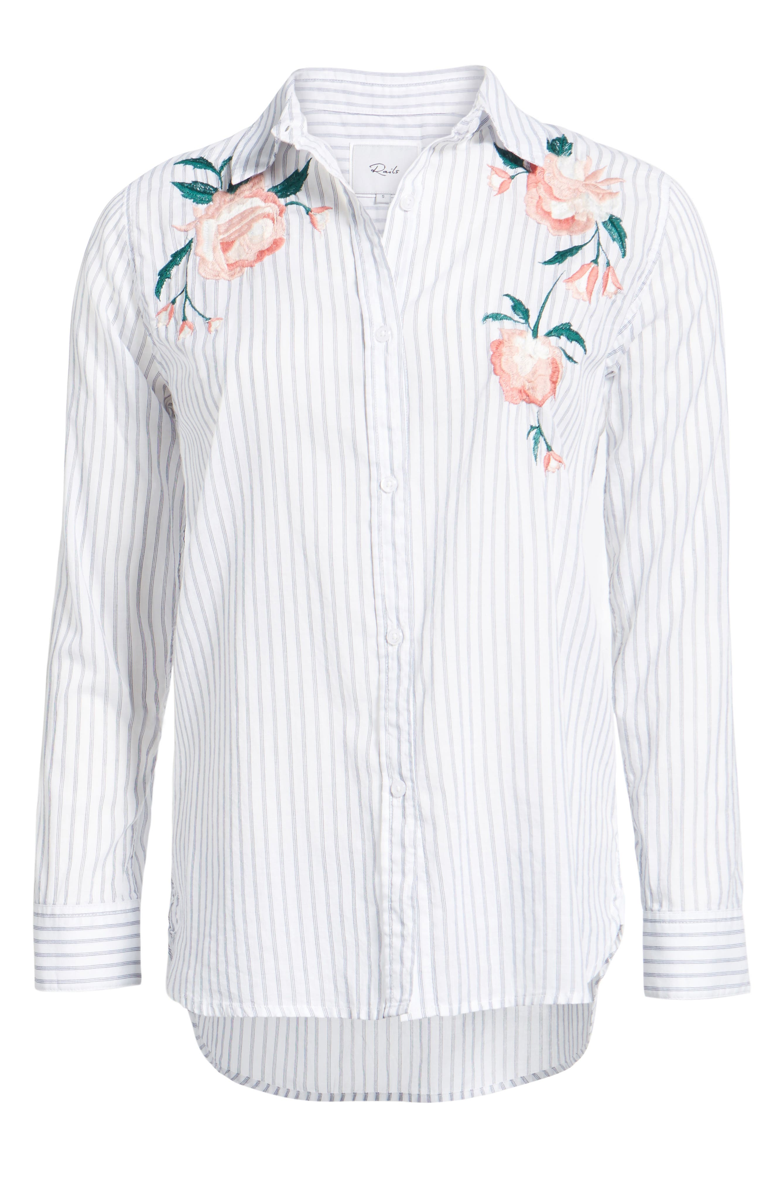 Nevin Embroidered Shirt,                             Alternate thumbnail 6, color,                             STRIPE PINK FLORAL EMBROIDERY
