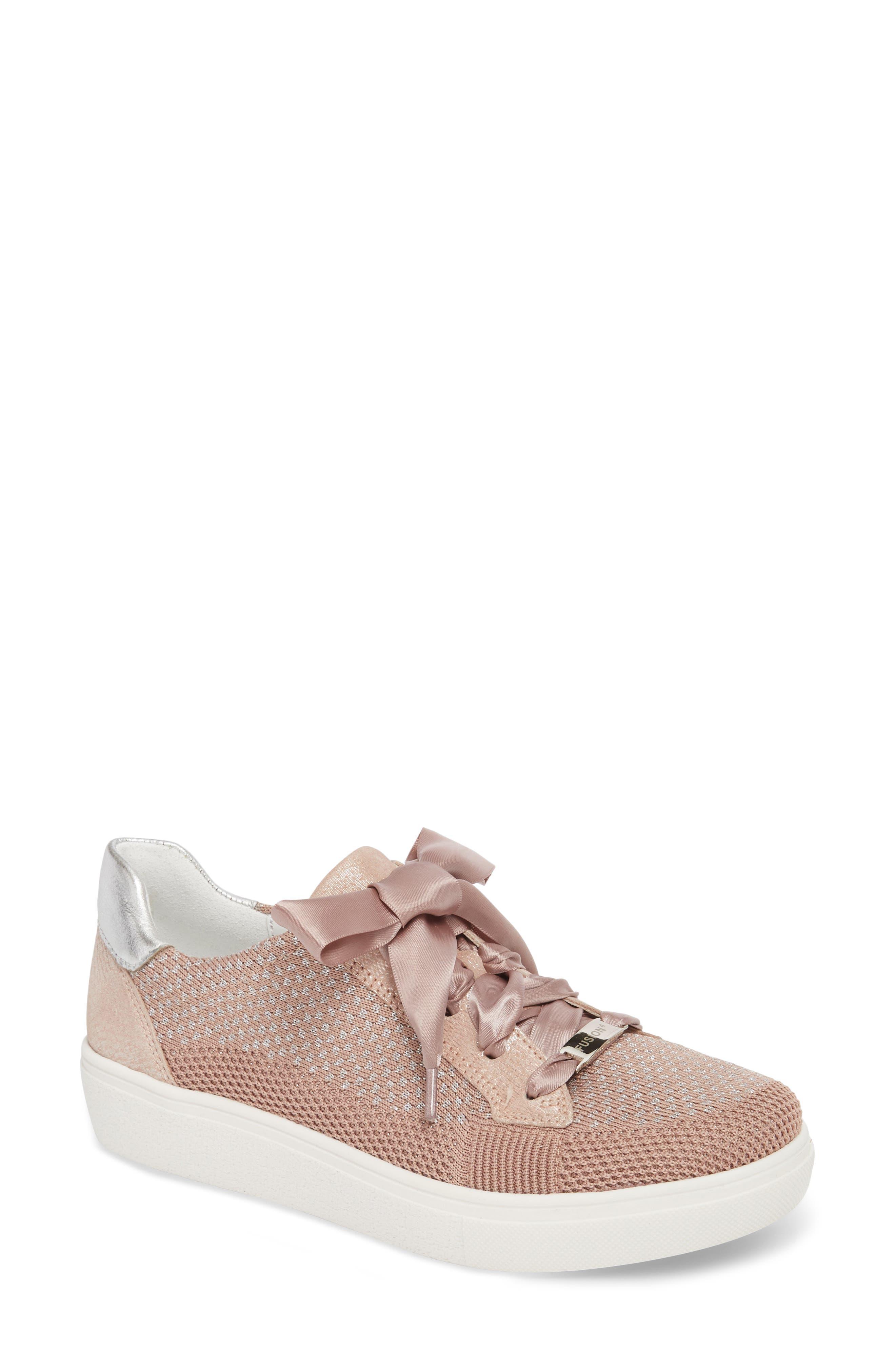 Natalya Sneaker,                         Main,                         color, POWDER FABRIC