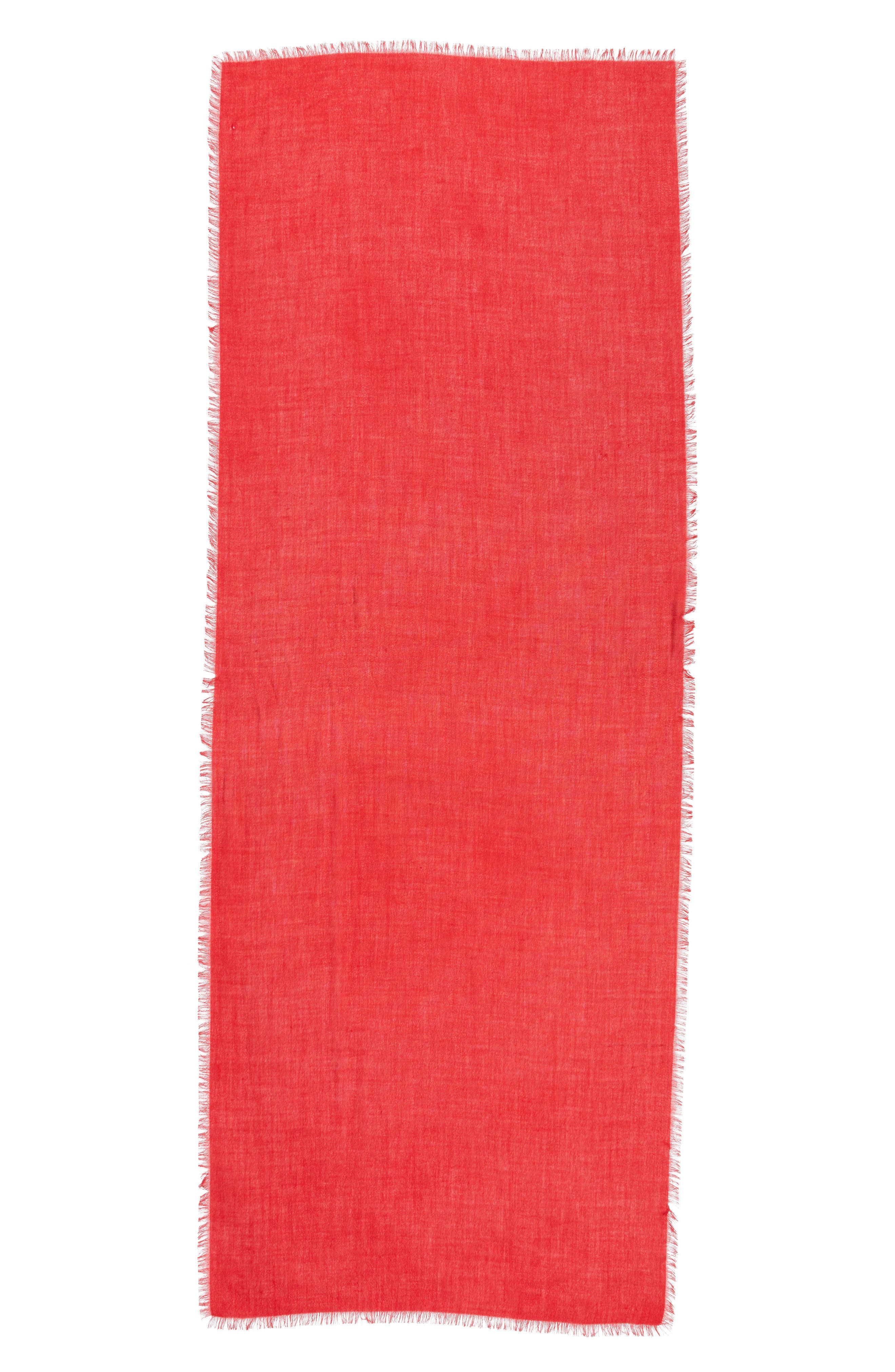 Cashmere & Silk Wrap,                             Alternate thumbnail 3, color,                             RED SAGE