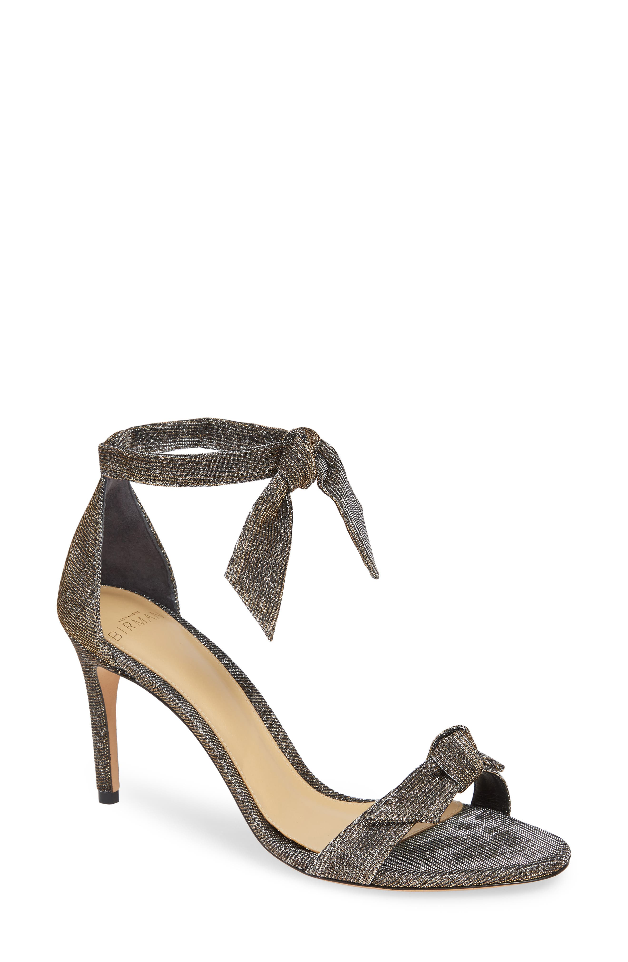 Clarita Ankle Strap Sandal,                             Main thumbnail 1, color,                             SILVER
