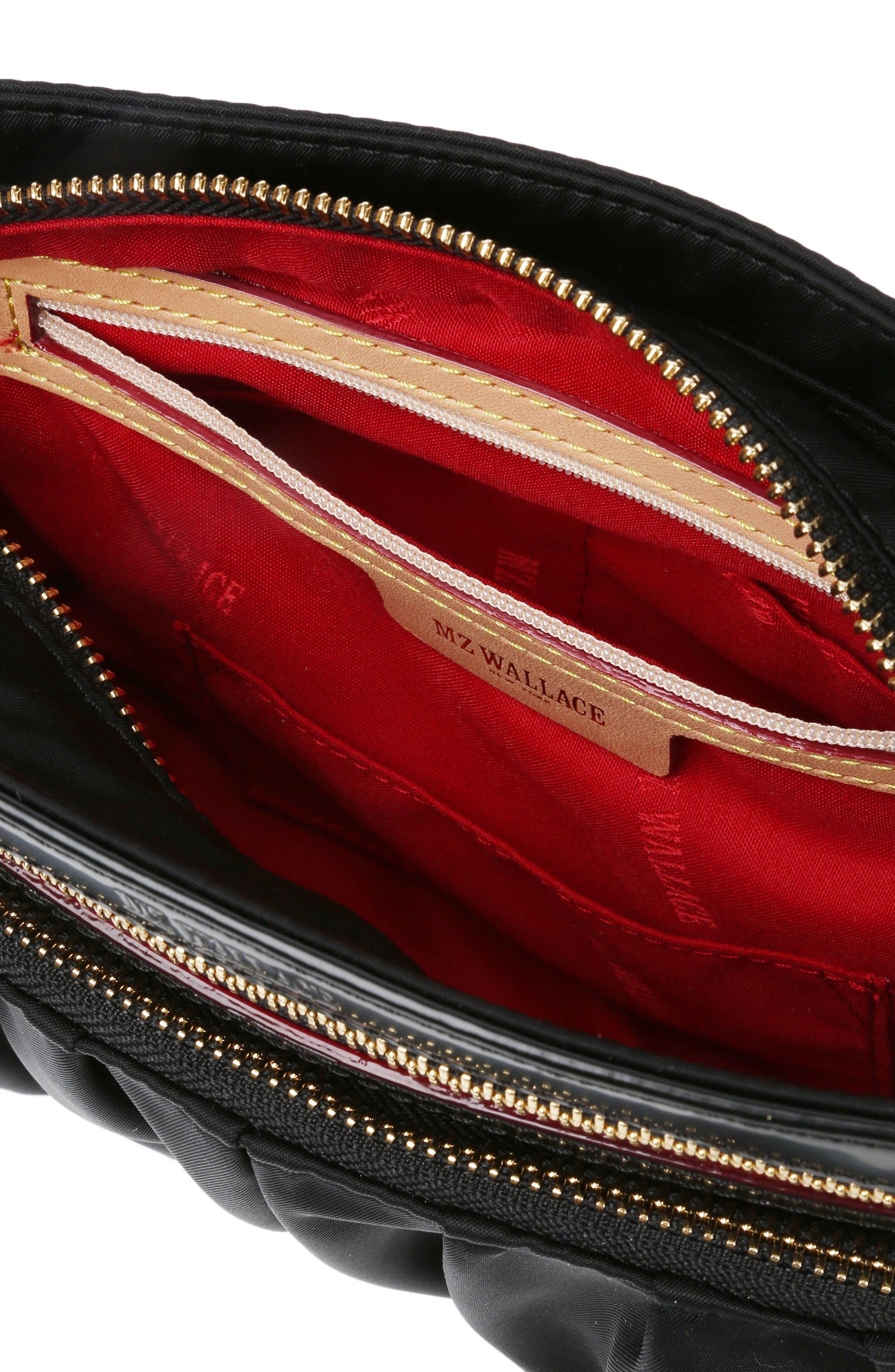 Abbey Crossbody Bag,                             Alternate thumbnail 4, color,                             BLACK BEDFORD