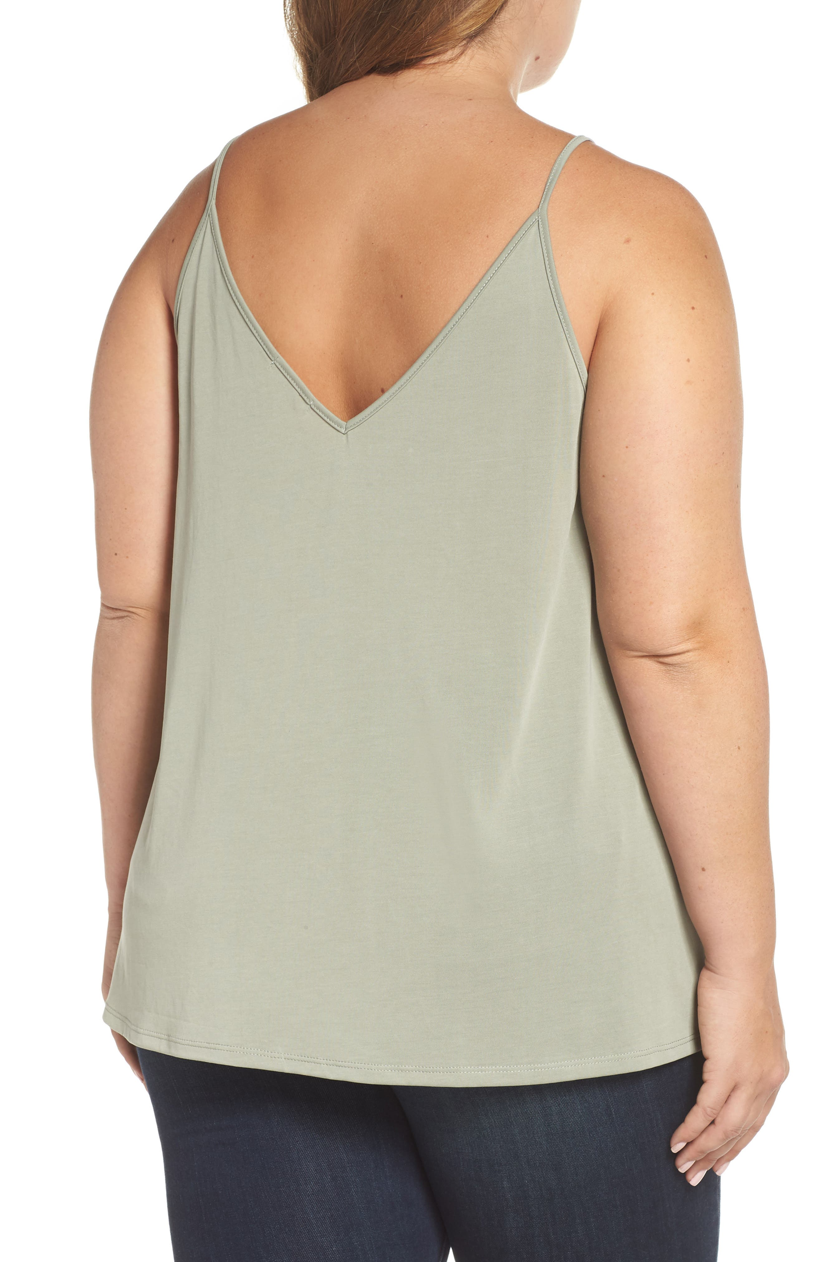 Double V Swing Camisole,                             Alternate thumbnail 8, color,                             OLIVE BURNT