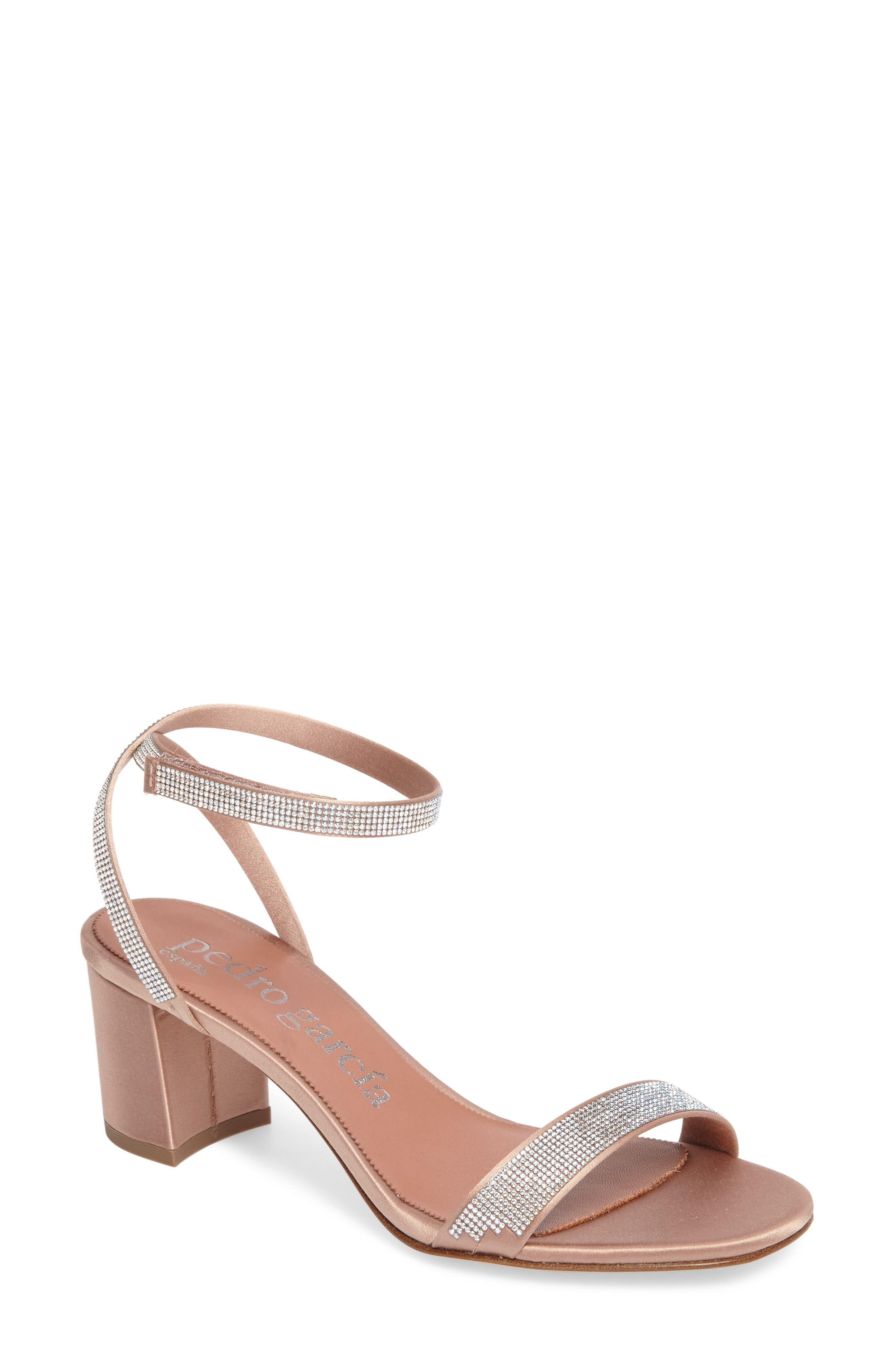 Xela Block Heel Sandal,                         Main,                         color, BISQUE SATIN