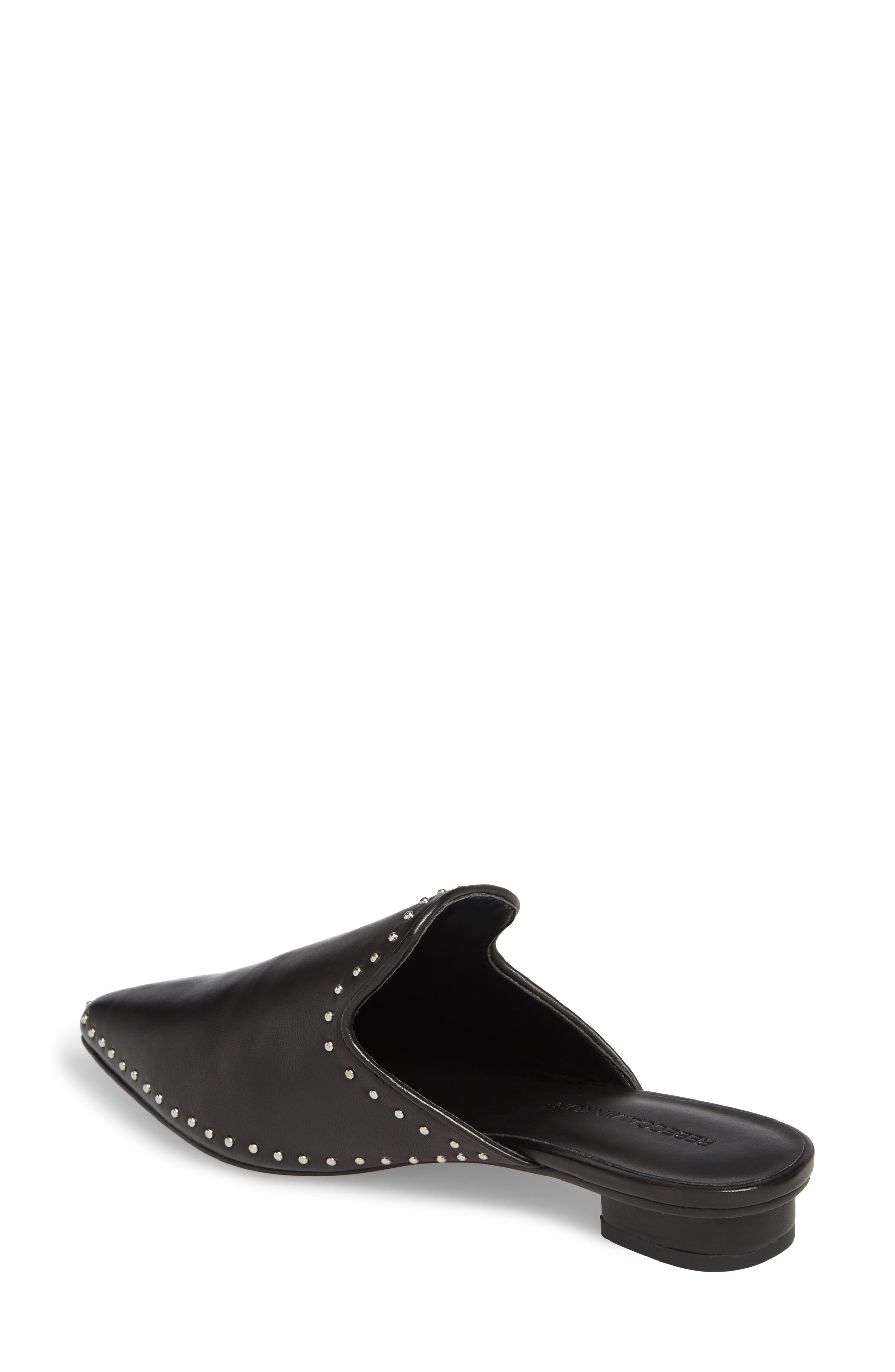 Chamille Studded Mule,                             Alternate thumbnail 2, color,                             BLACK LEATHER