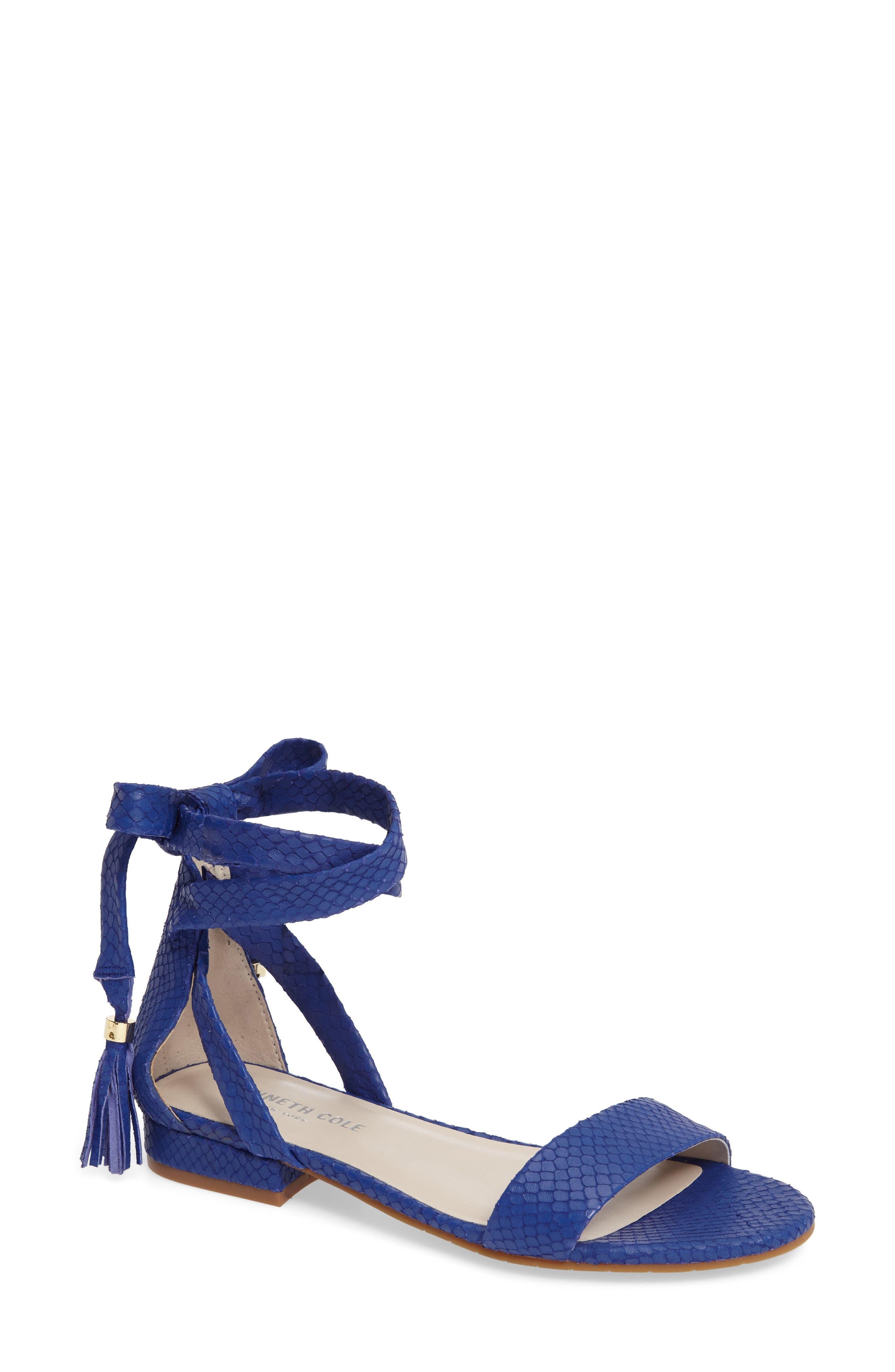 Valen Tassel Lace-Up Sandal,                             Main thumbnail 9, color,