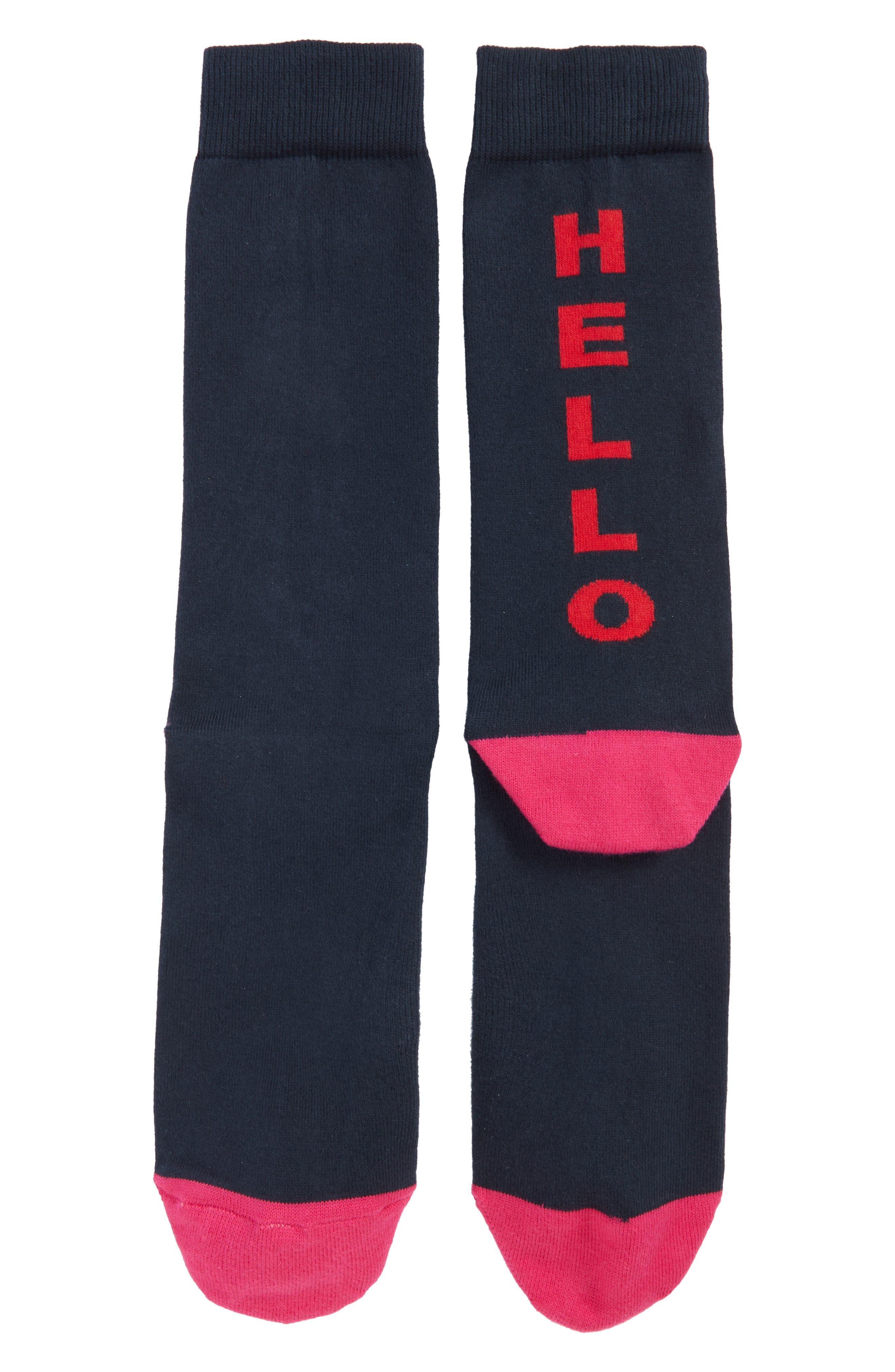 Scribble Crew Socks,                             Main thumbnail 2, color,