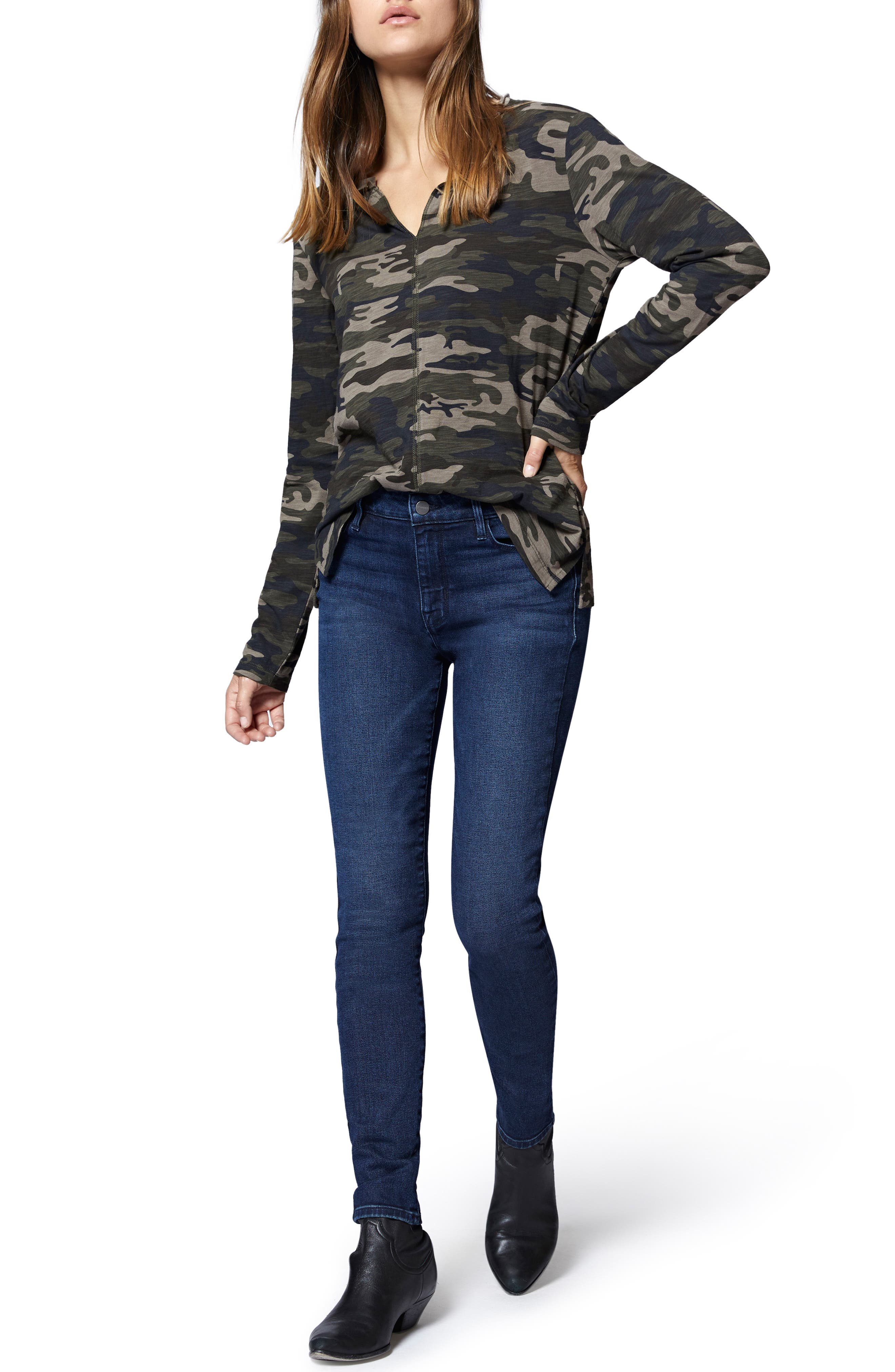 Ives Long Sleeve Camo Tee,                             Alternate thumbnail 4, color,                             HUMAN NATURE CAMO