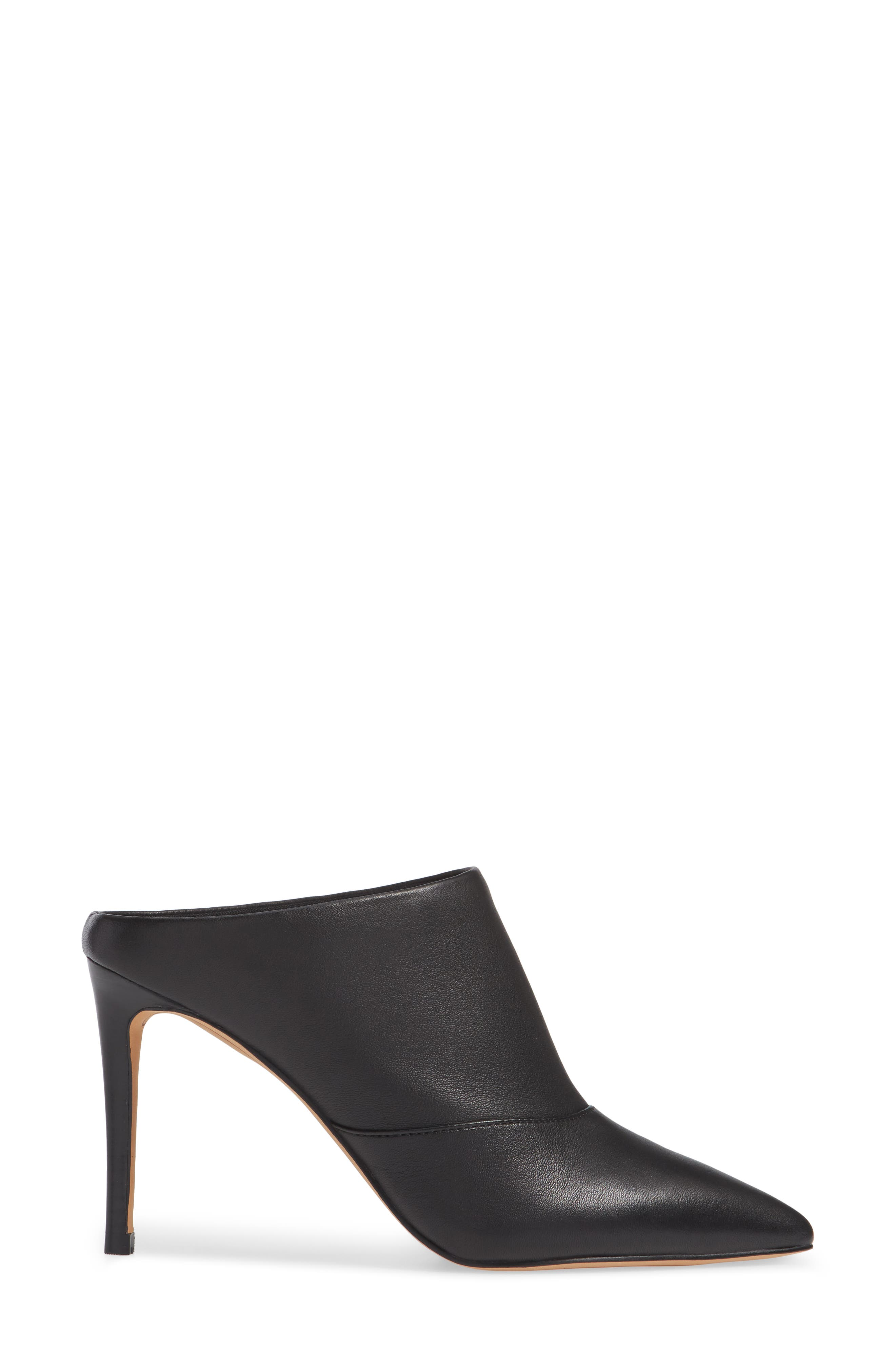 Cinda Pointy Toe Mule,                             Alternate thumbnail 3, color,                             001