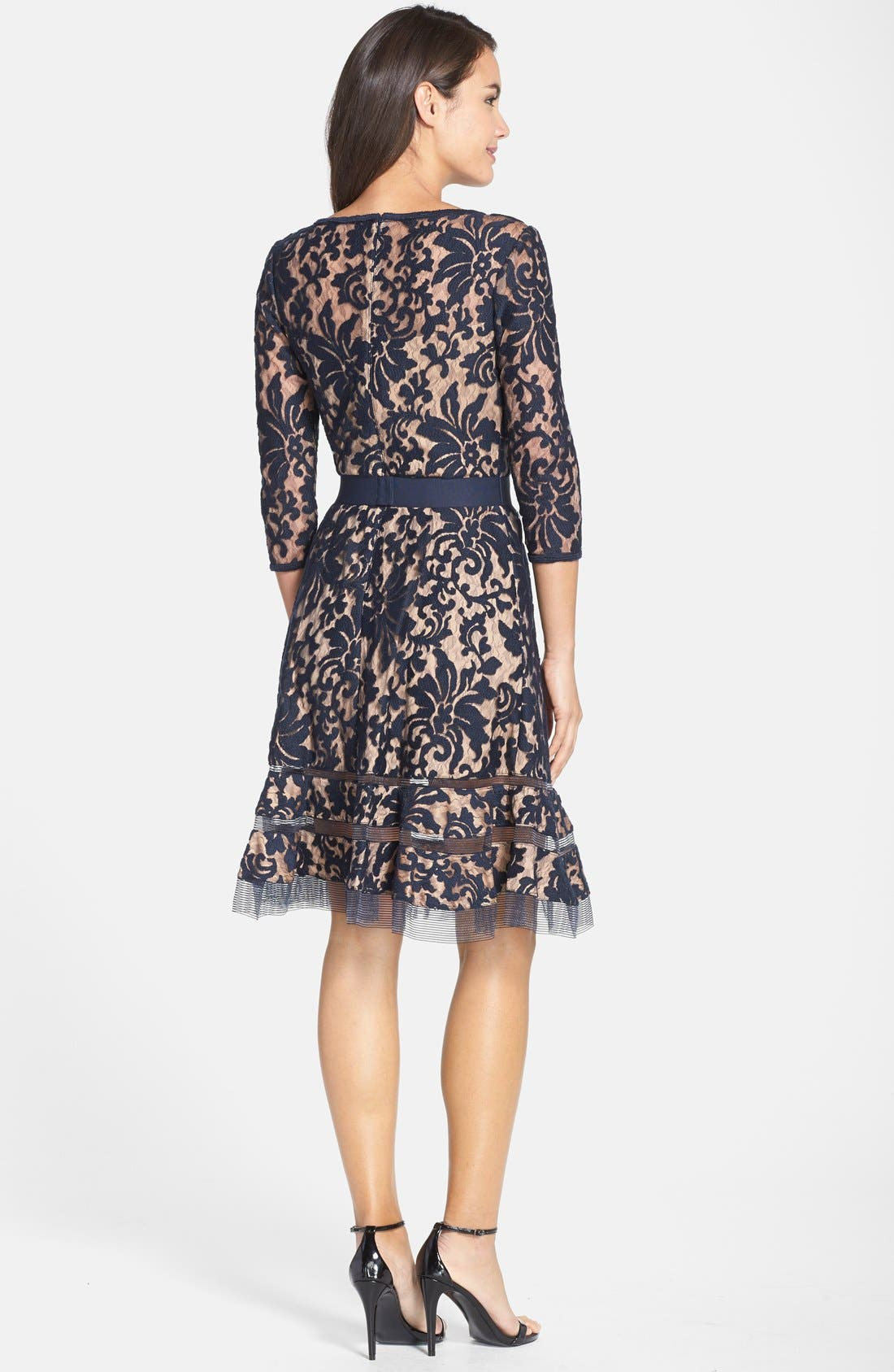 Lace Overlay Dress,                             Alternate thumbnail 4, color,                             408