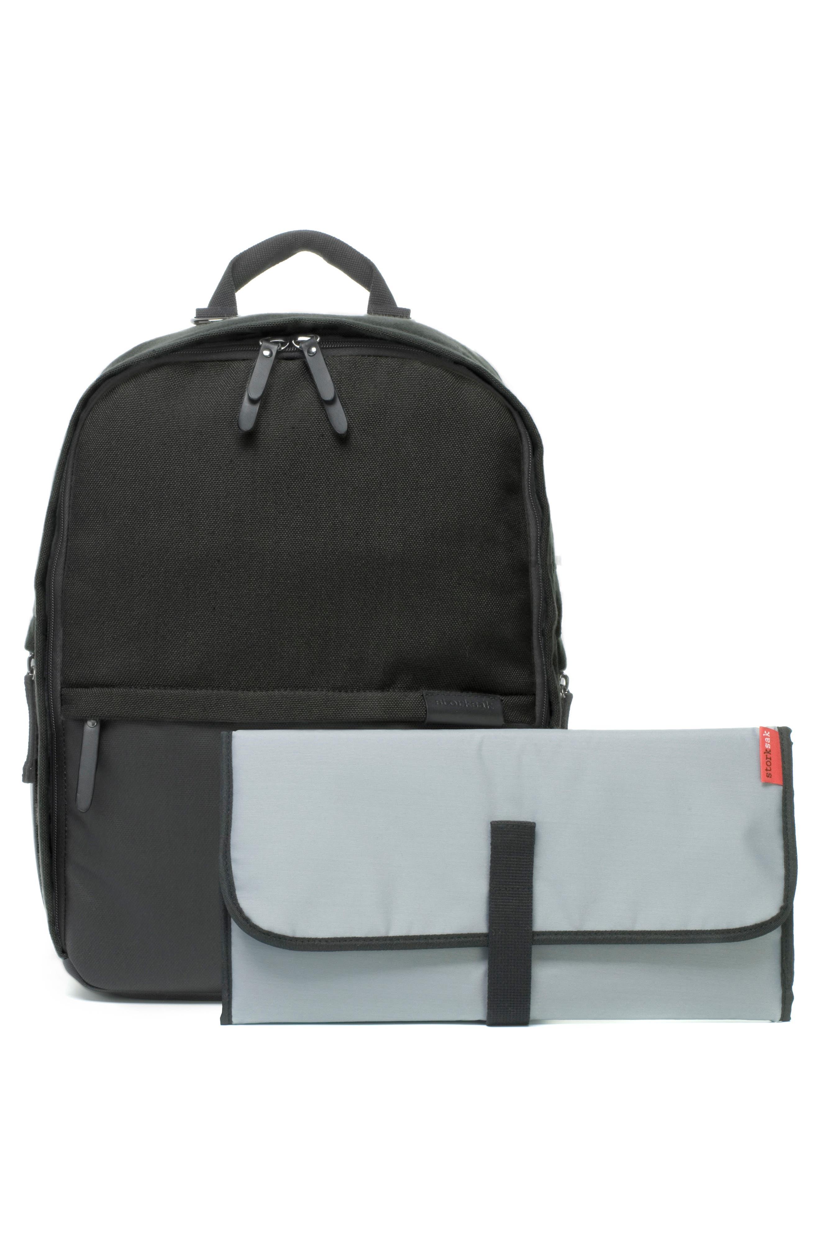 Taylor Diaper Backpack,                             Alternate thumbnail 8, color,                             BLACK