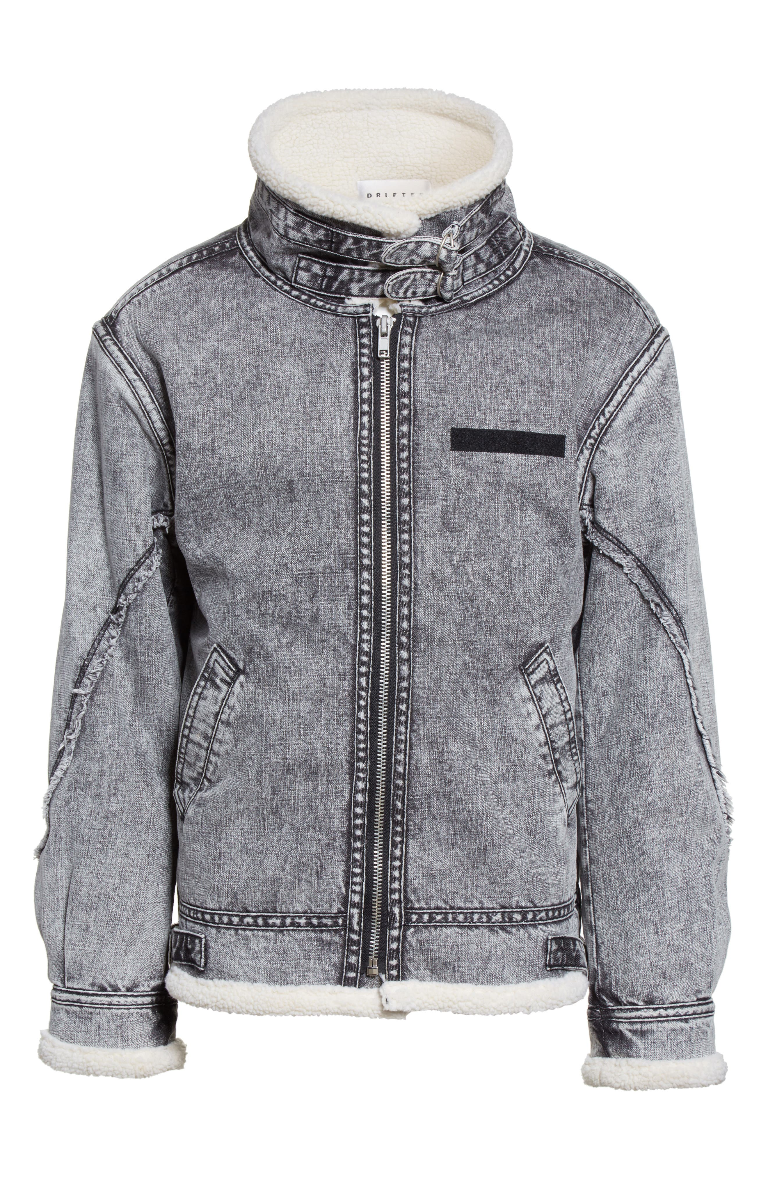 Denim Bomber Jacket,                             Alternate thumbnail 6, color,                             036