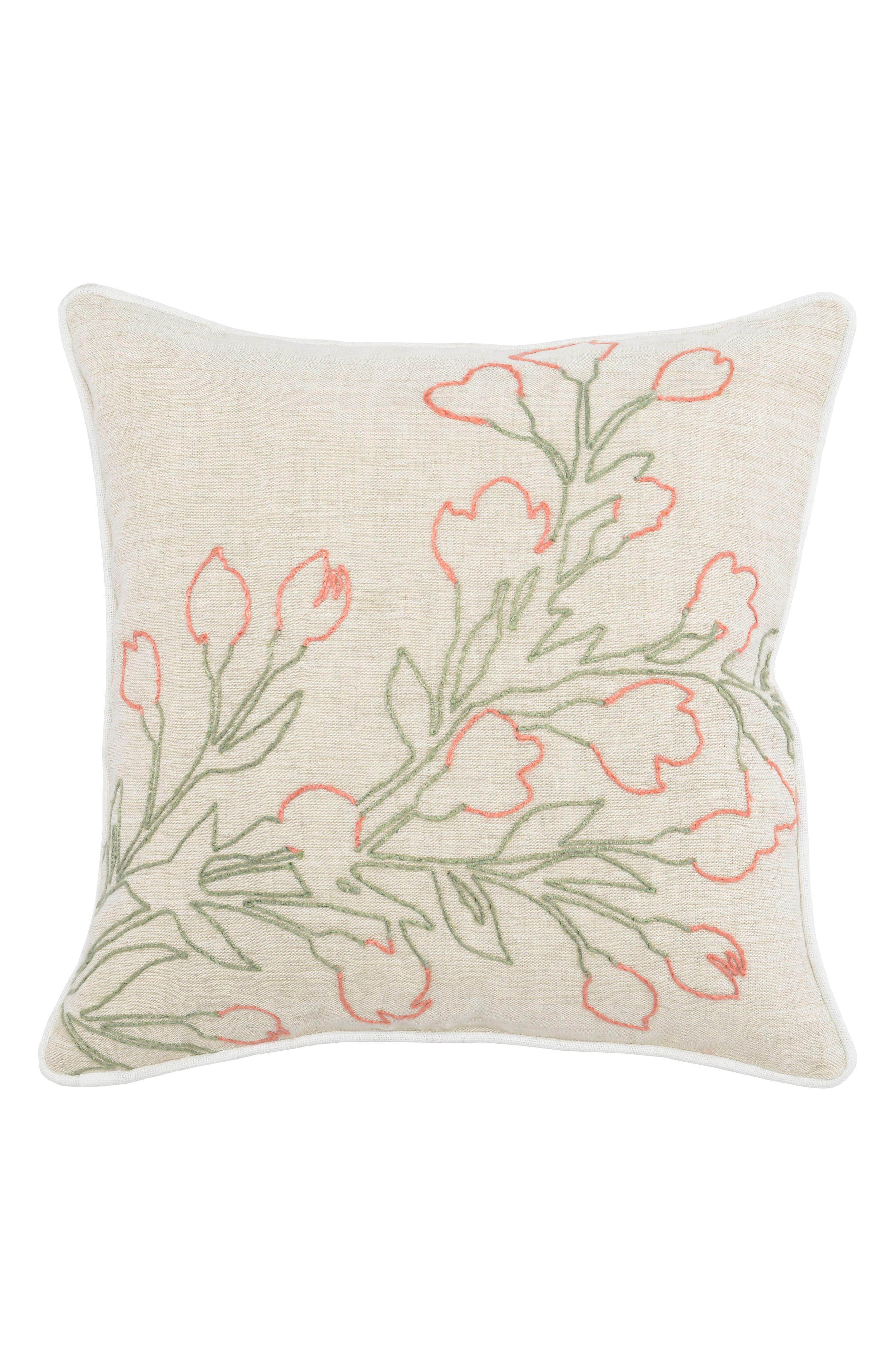 VILLA HOME COLLECTION,                             Emery Accent Pillow,                             Main thumbnail 1, color,                             IVORY/ ROSE/ MINT