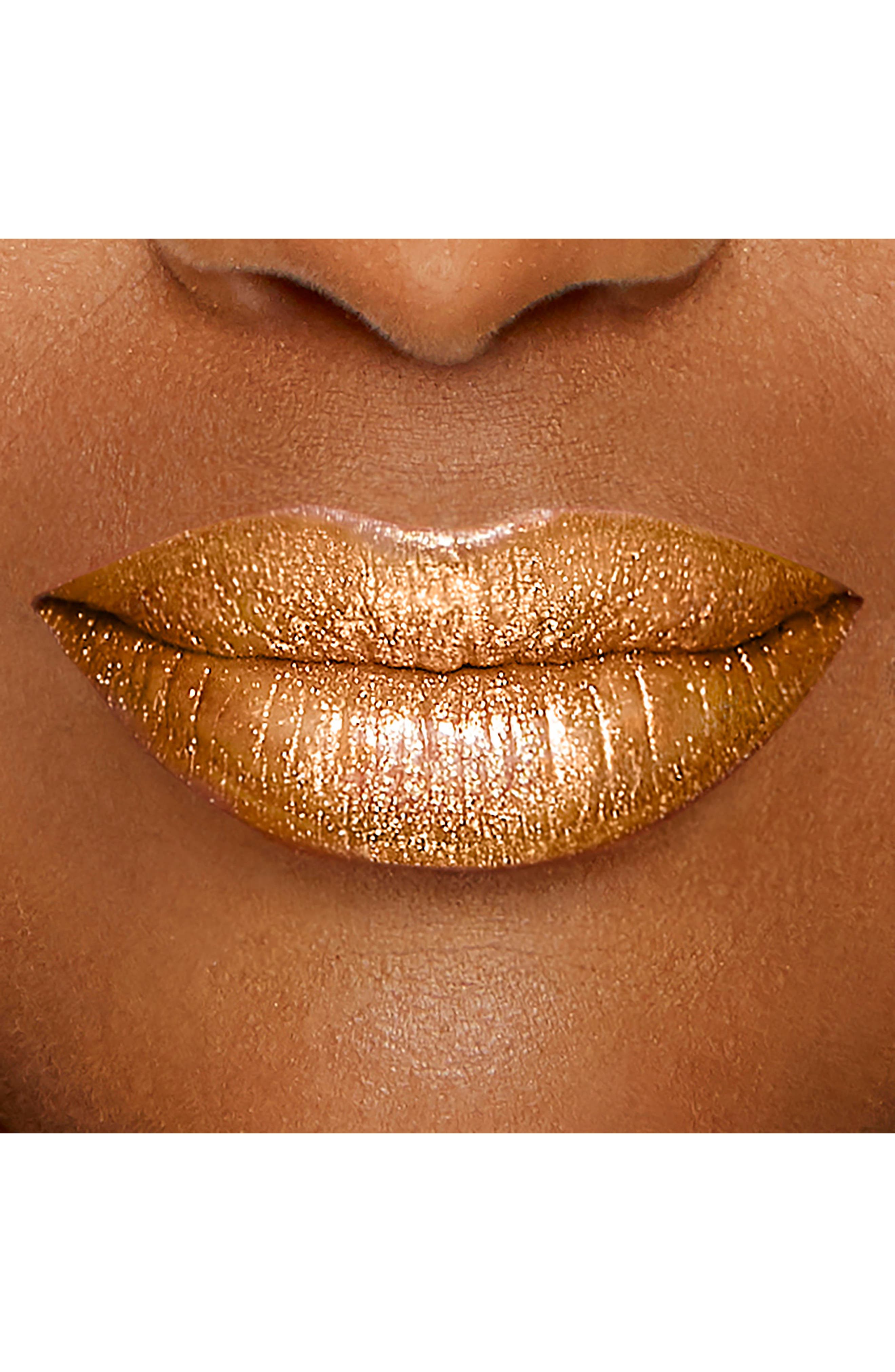 Melted Gold Liquified Gold Lip Gloss,                             Alternate thumbnail 6, color,                             GOLD